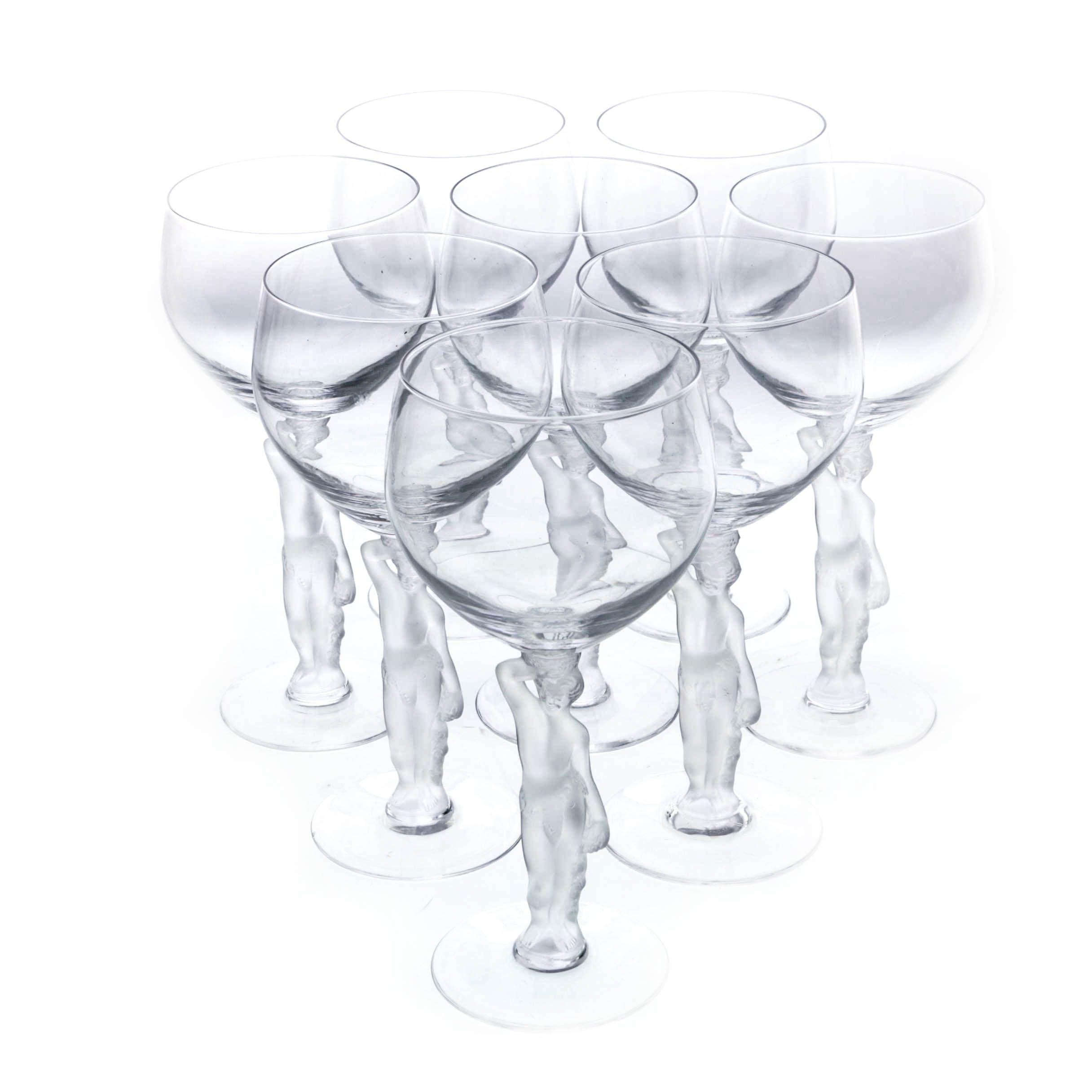"Bayel ""Bacchante"" Wine Glasses, 1976-1981"
