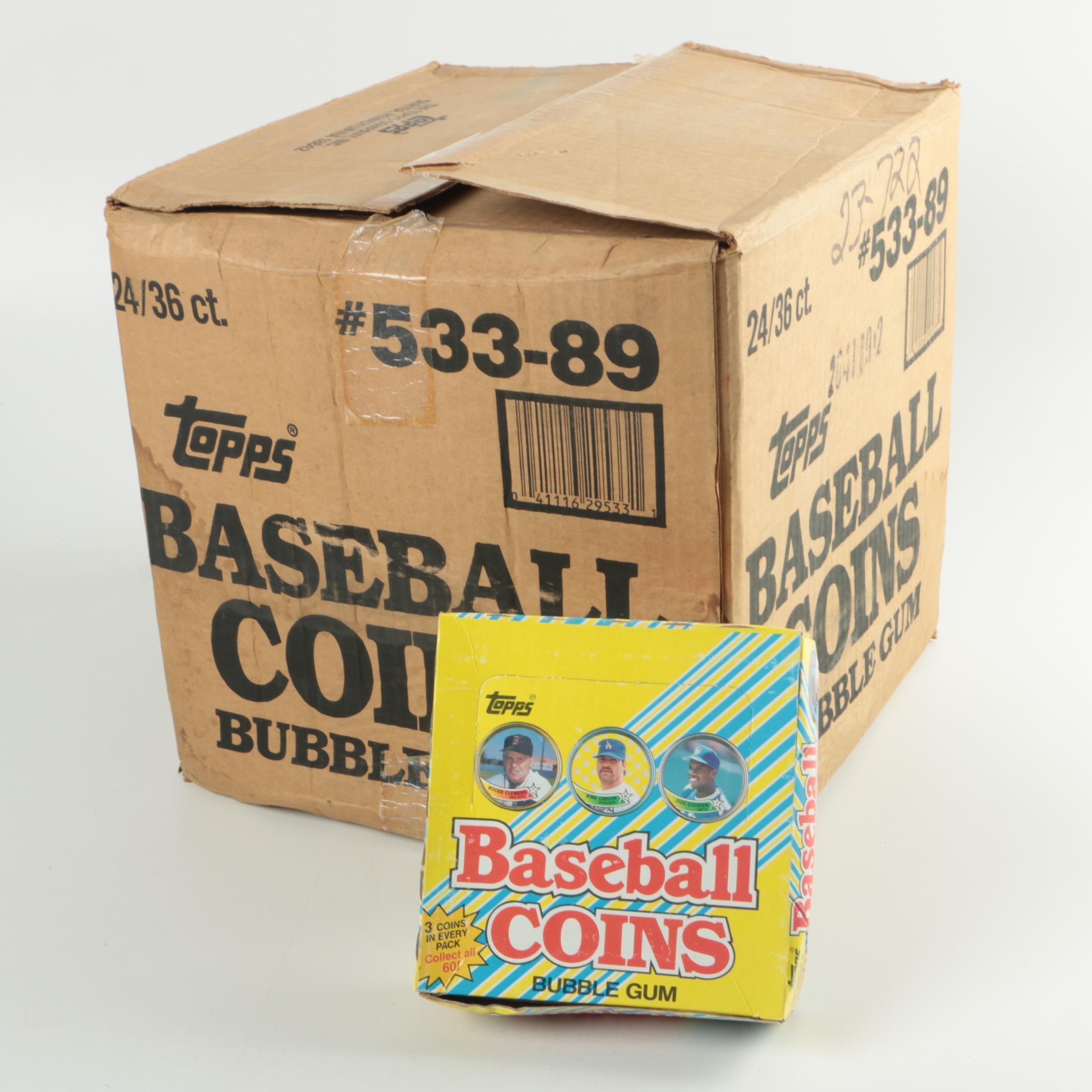 1989 Topps Bubble Gum Baseball Coin Sets