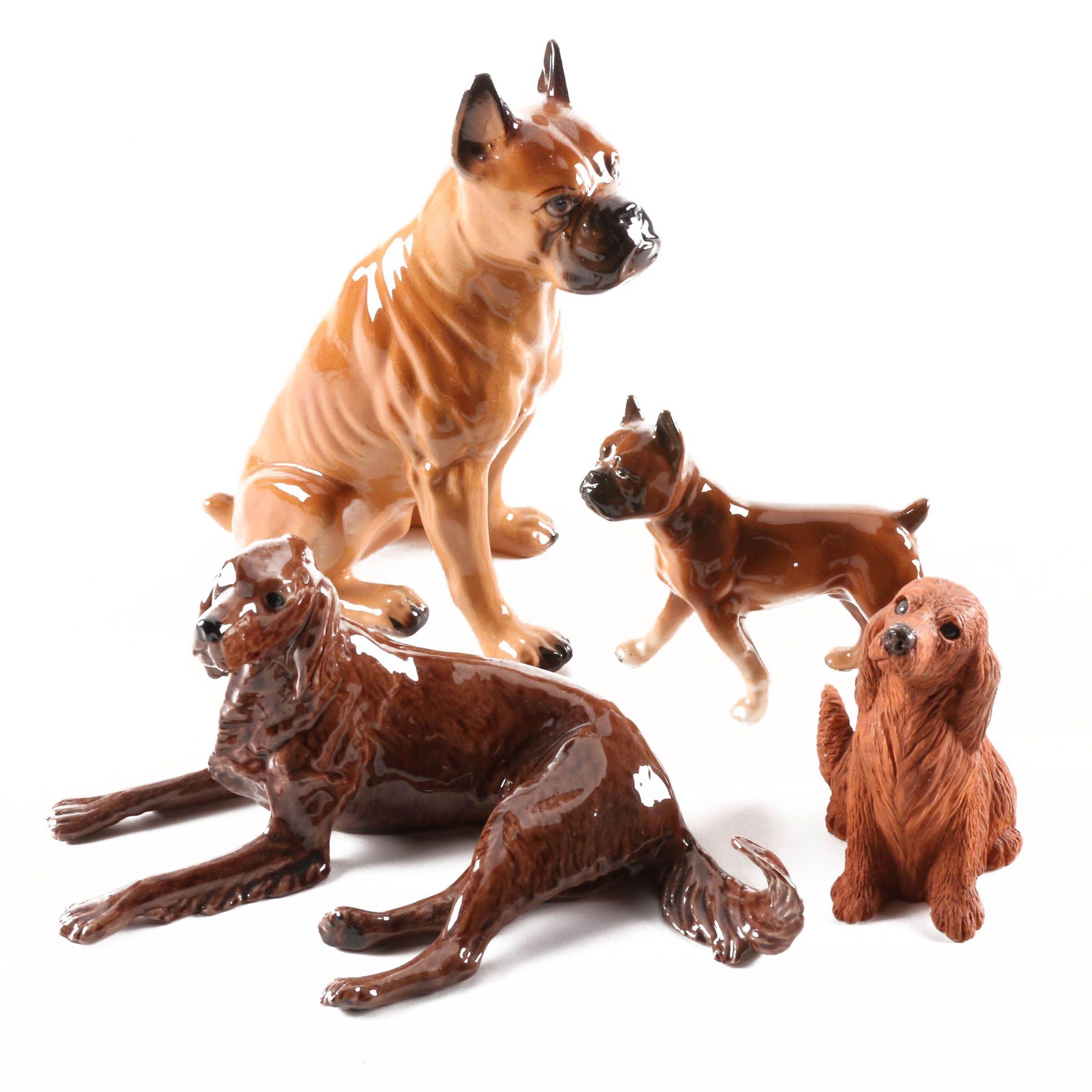 Ceramic and Resin Dog Figurines