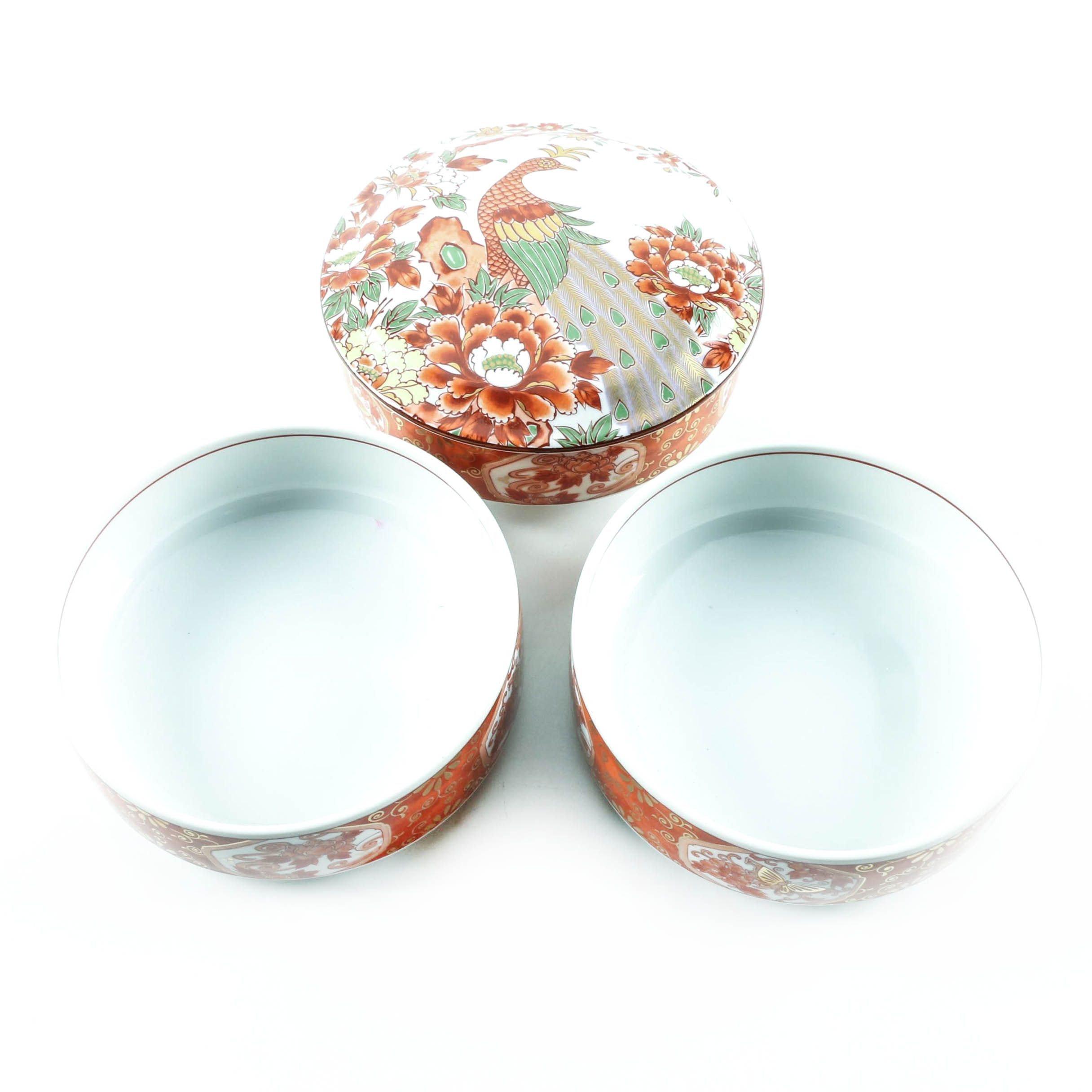 Japanese Otagari Stacked Porcelain Bowls