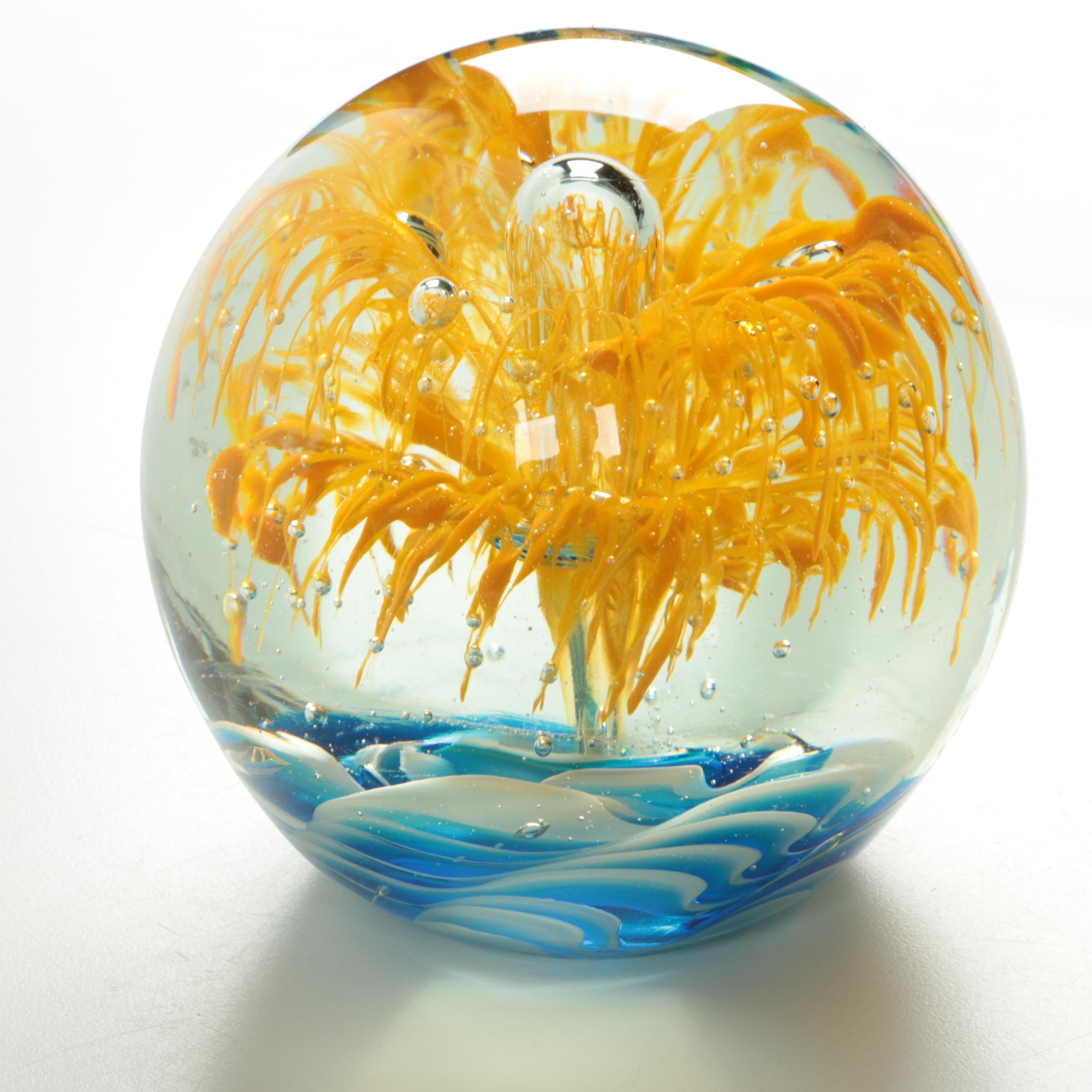 Cristalleria D'arte Art Glass Paperweight