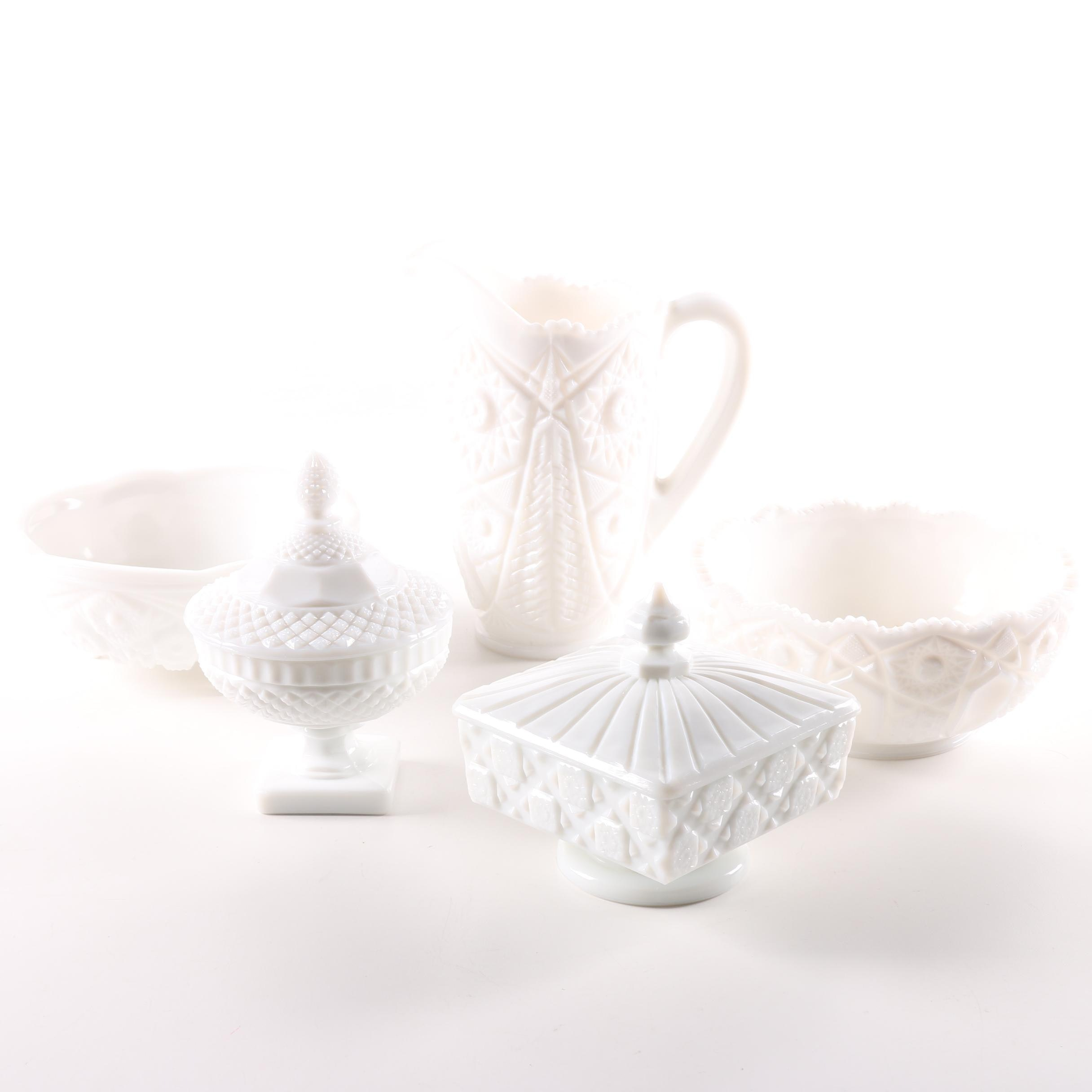 Milk Glass Collection Including Kemple and Westmoreland