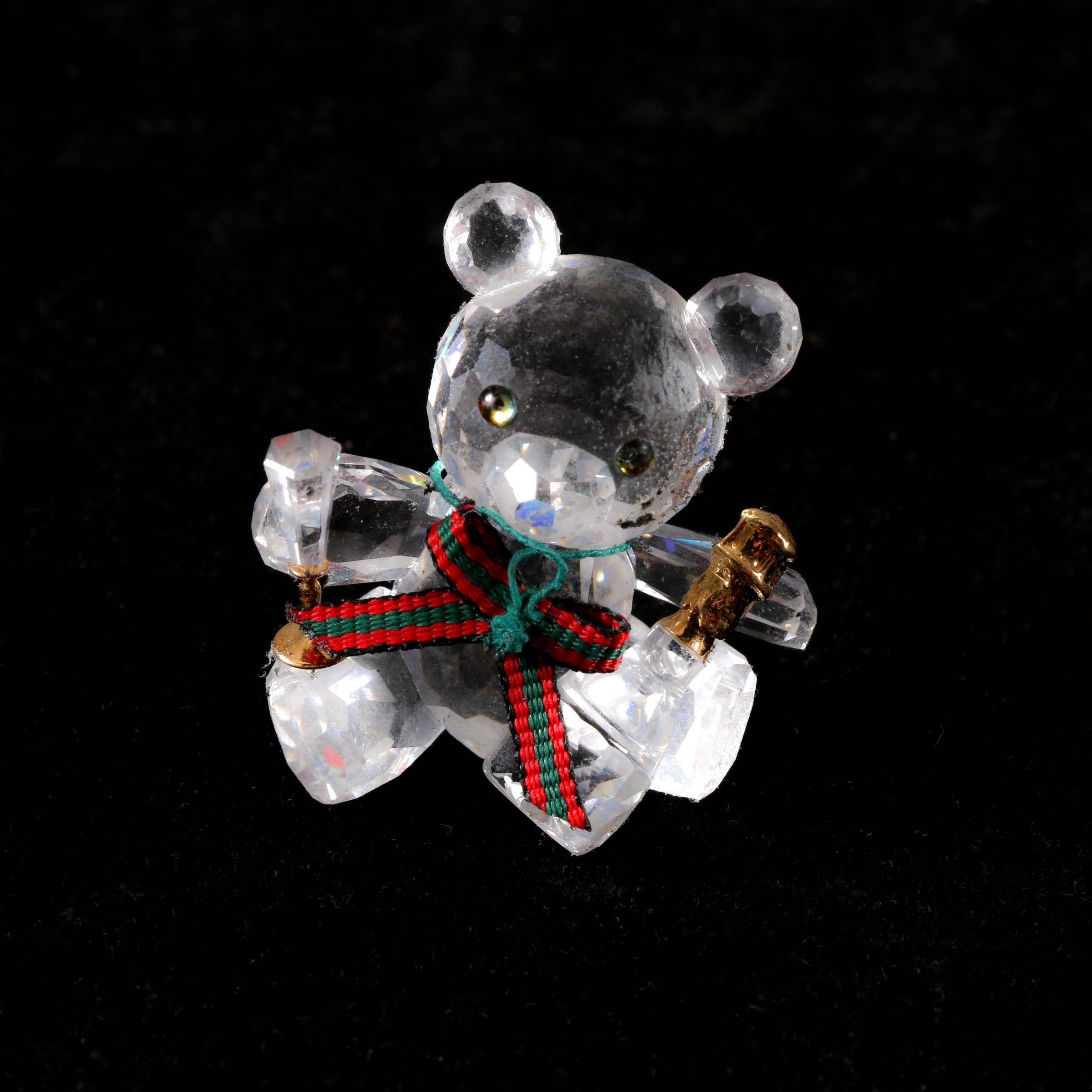 "Swarovski Crystal Kris Bear ""Celebration"" Figurine"