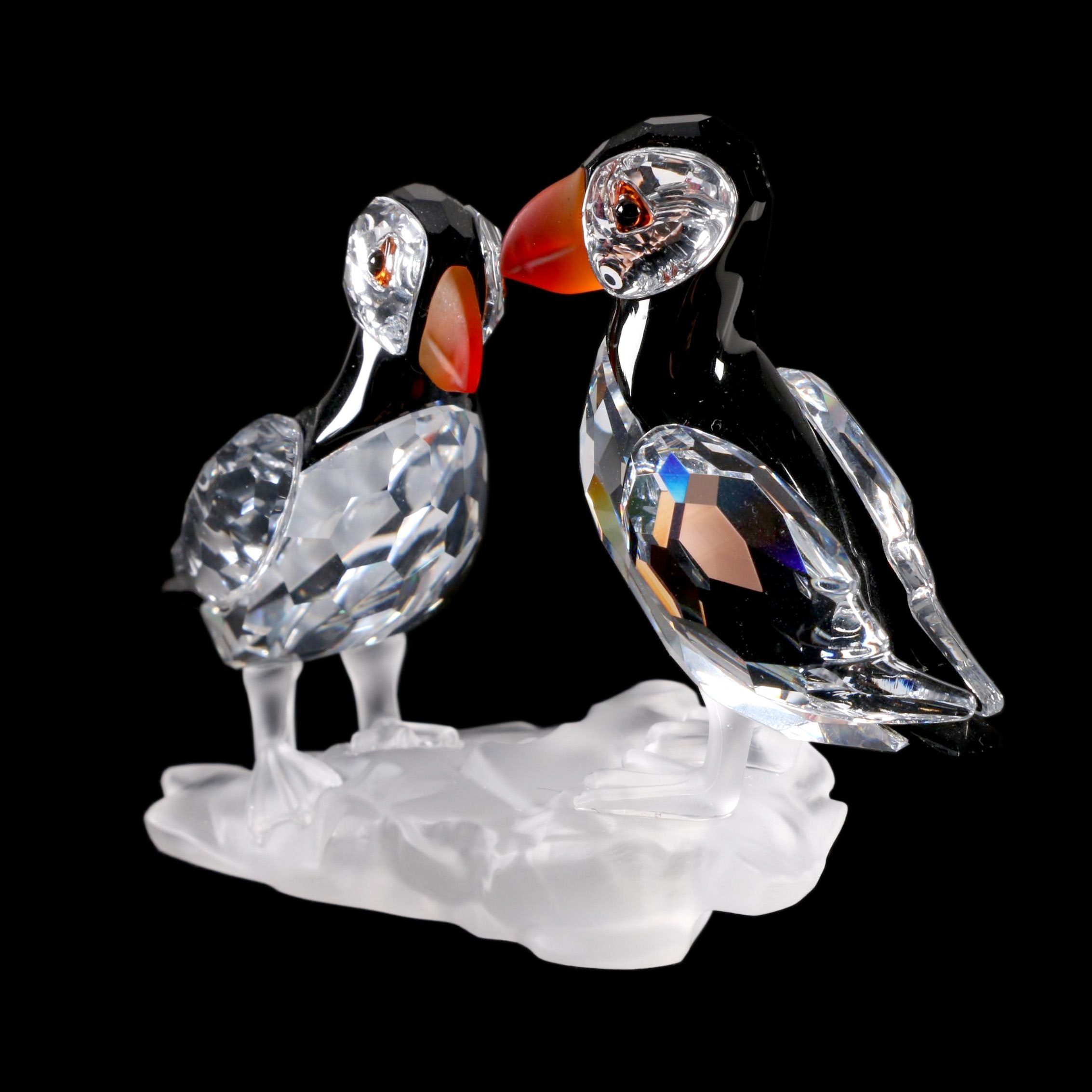 "Swarovski Crystal ""Feathered Beauties"" Puffins Figurine"