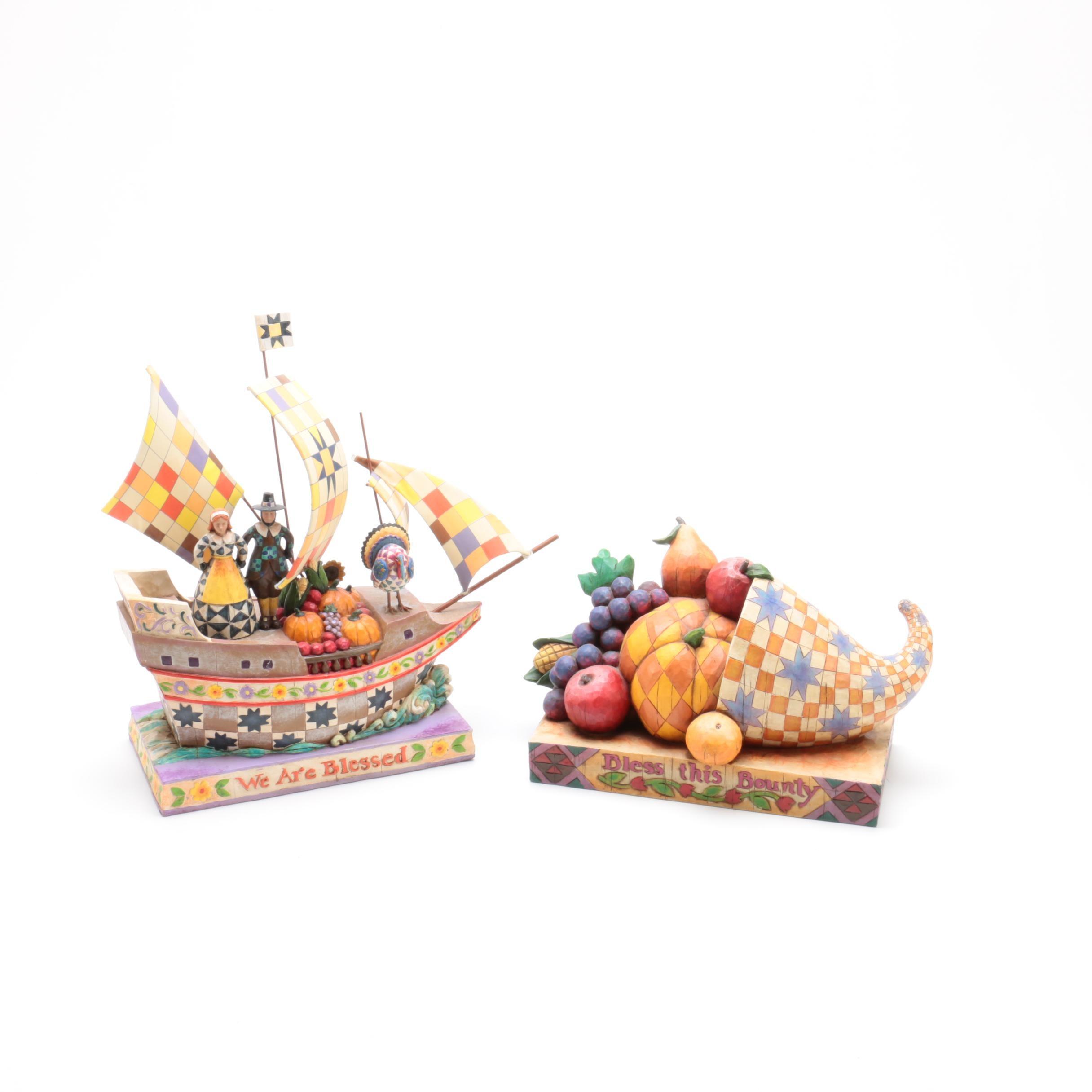 Jim Shore Heartwood Creek Thanksgiving Figurines