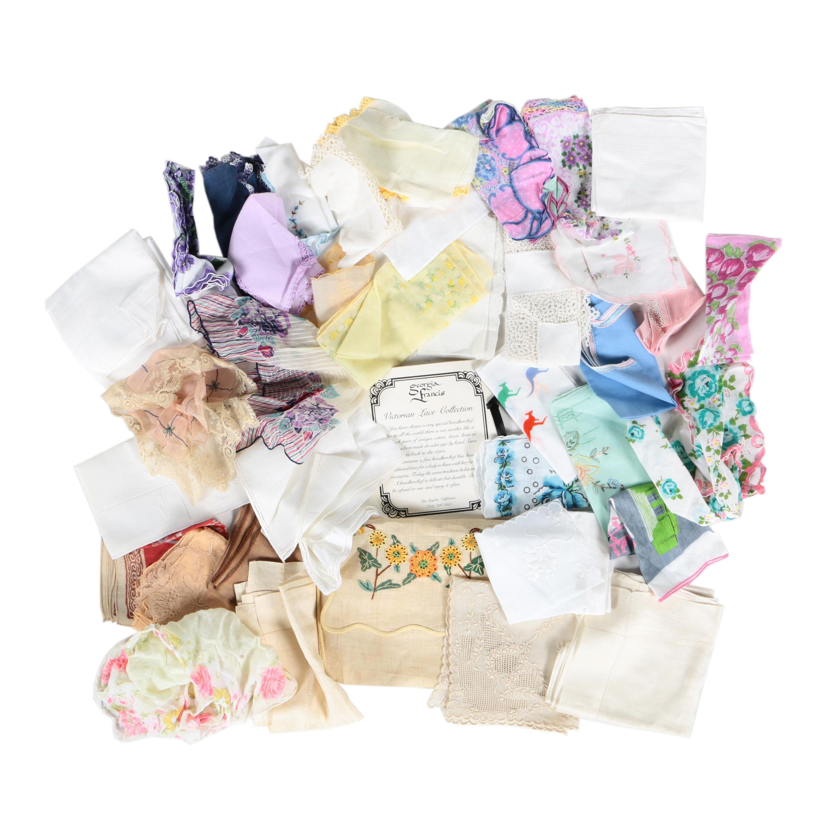 Handkerchiefs Including Victorian Lace Collection