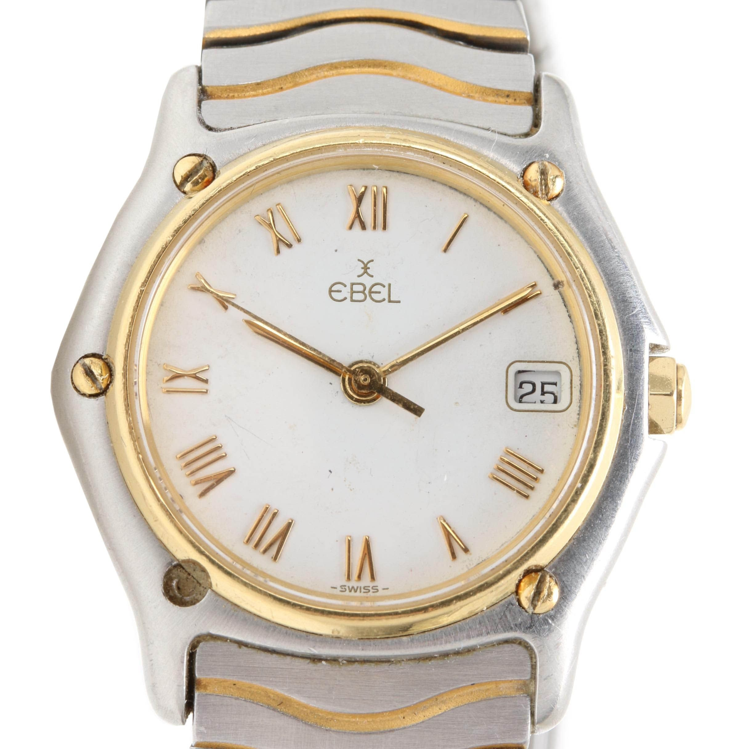 Stainless Steel and 18K Yellow Gold Ebel Wristwatch