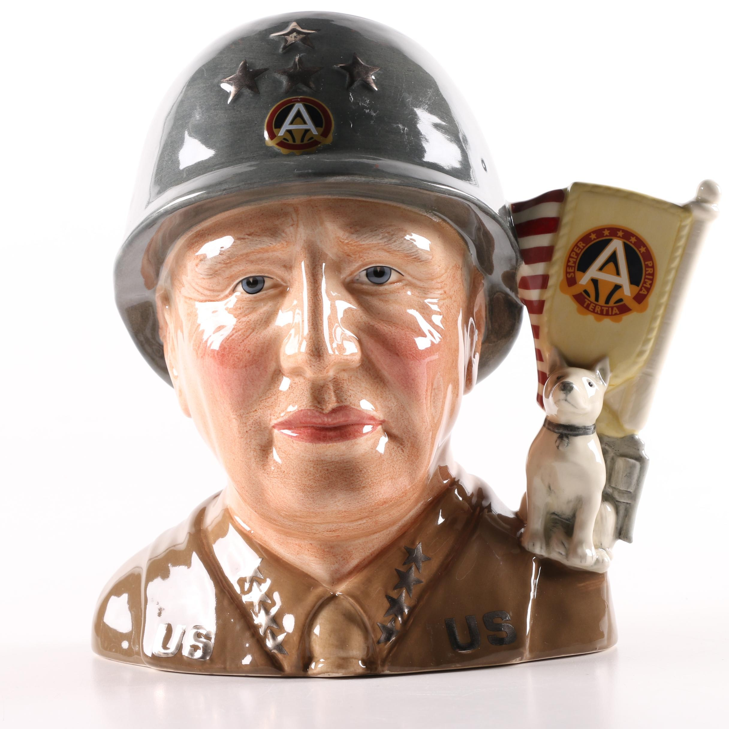 "Royal Doulton ""General Patton"" D7026 Toby Character Jug"