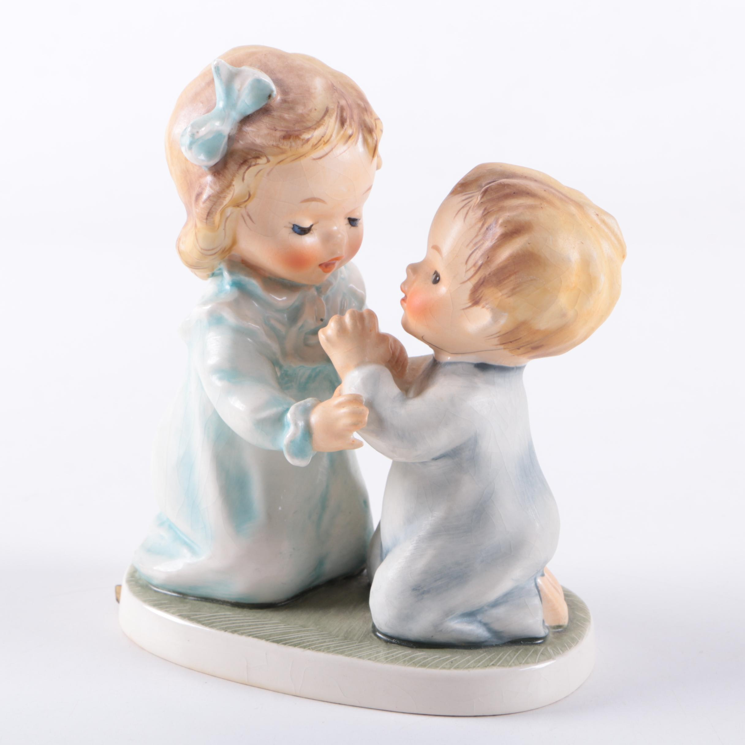 "Goebel Porcelain Figurine ""The Way to Pray"" by Charlot Byj"