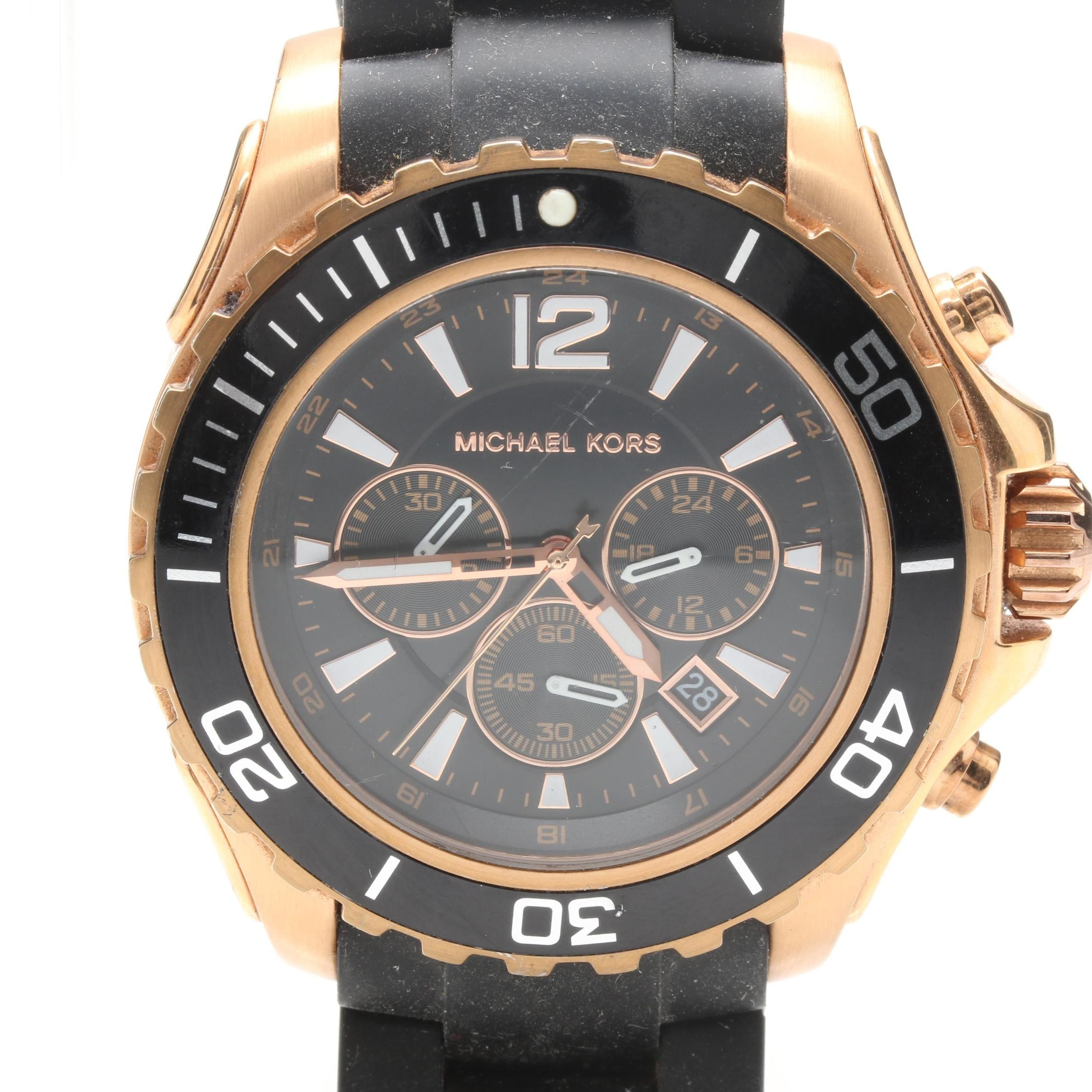 Michael Kors Gold Tone Chronograph Wristwatch