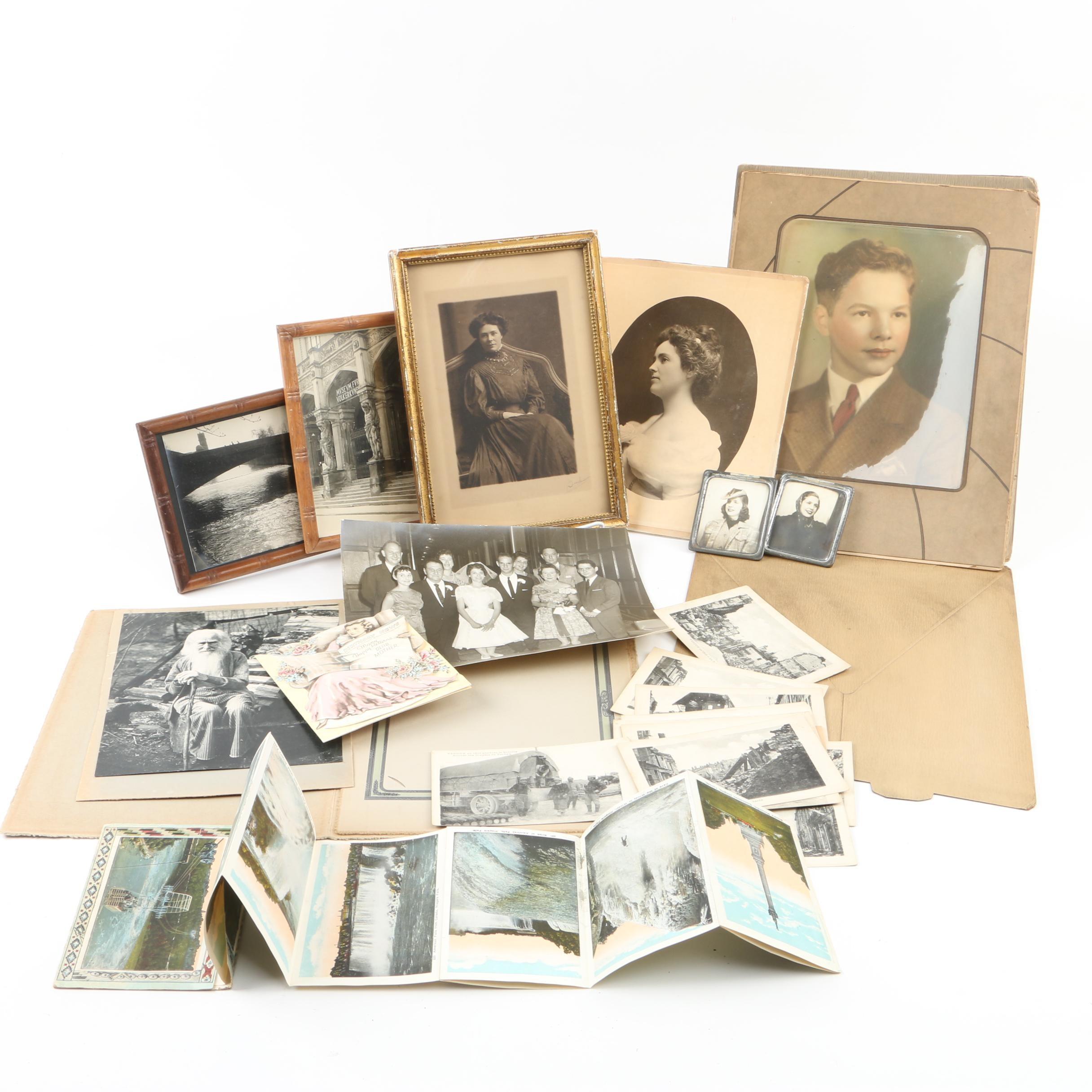 Grouping of Vintage Photographs and Ephemera
