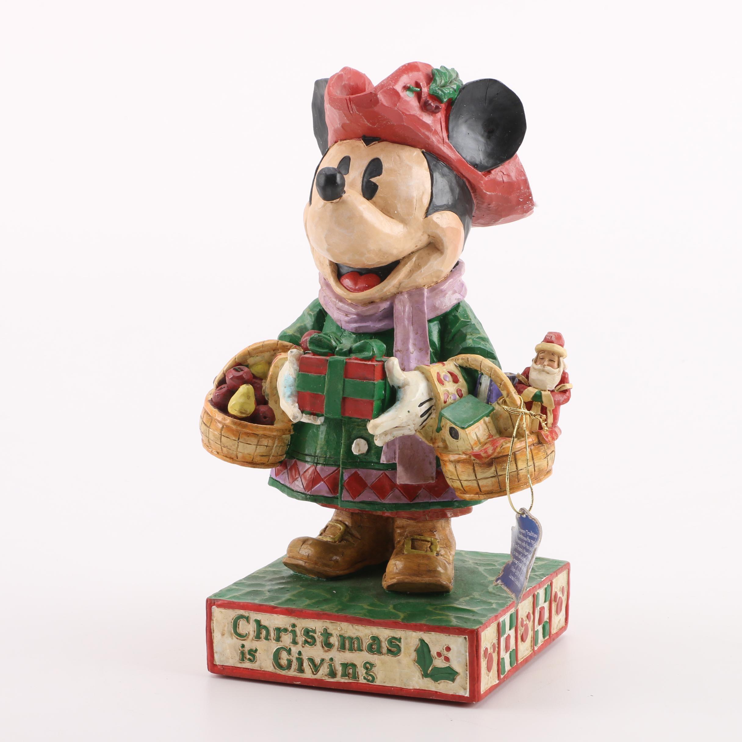 Disney Jim Shore Mickey Mouse Chistmas Figurine