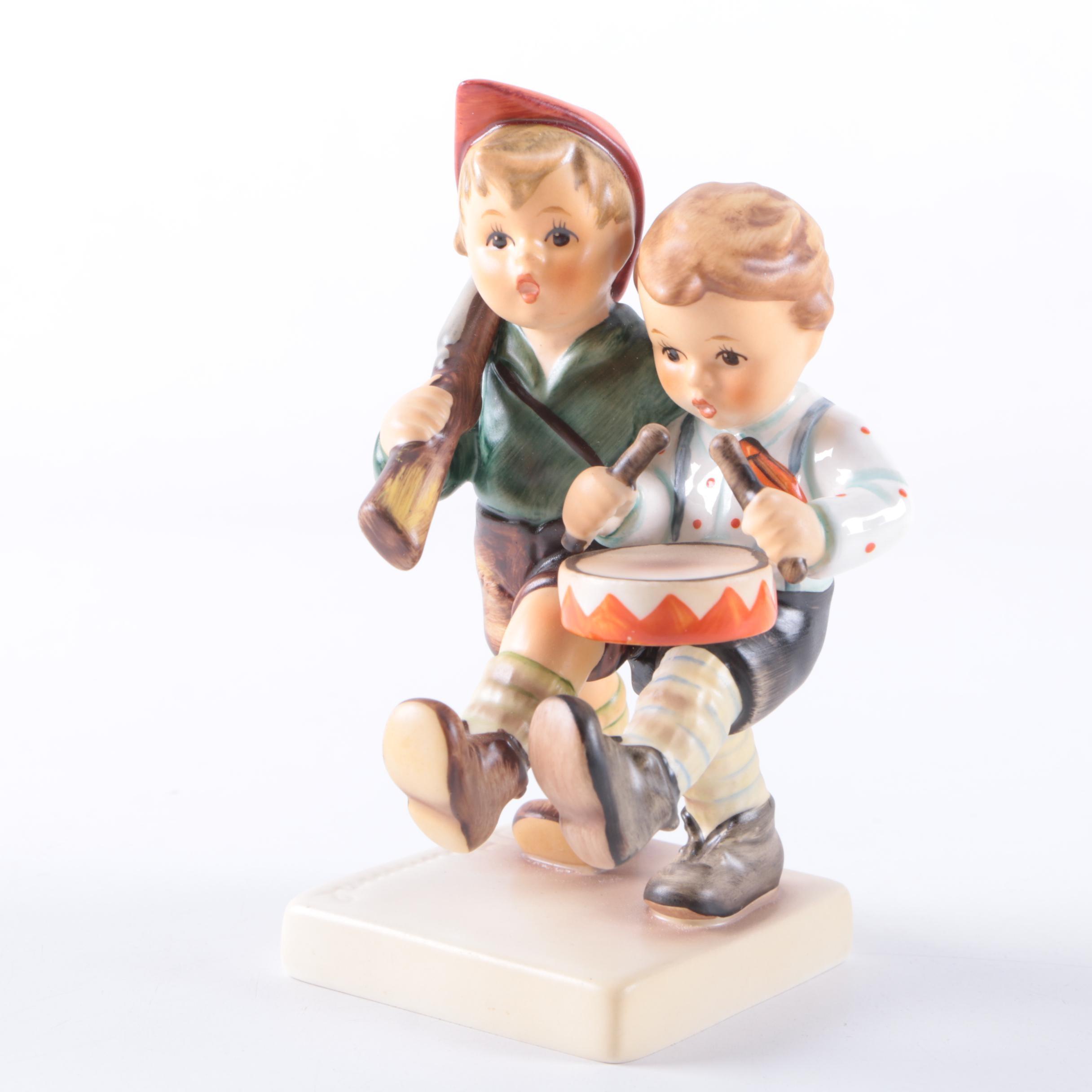 """Vintage Hummel Special Edition """"Volunteers"""" Porcelain Figurine"""