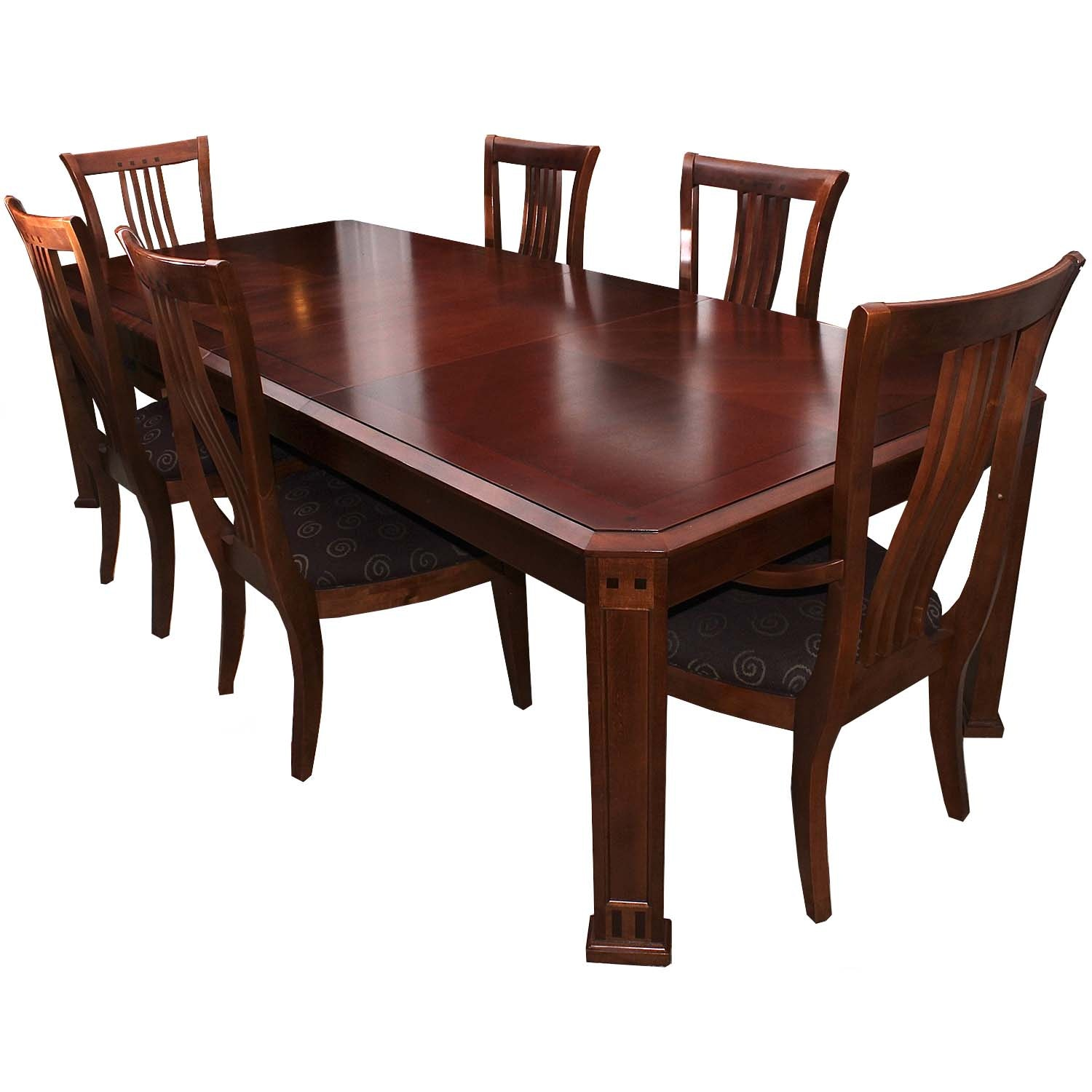 Thomasville Two-Leaf Dining Table and Chairs