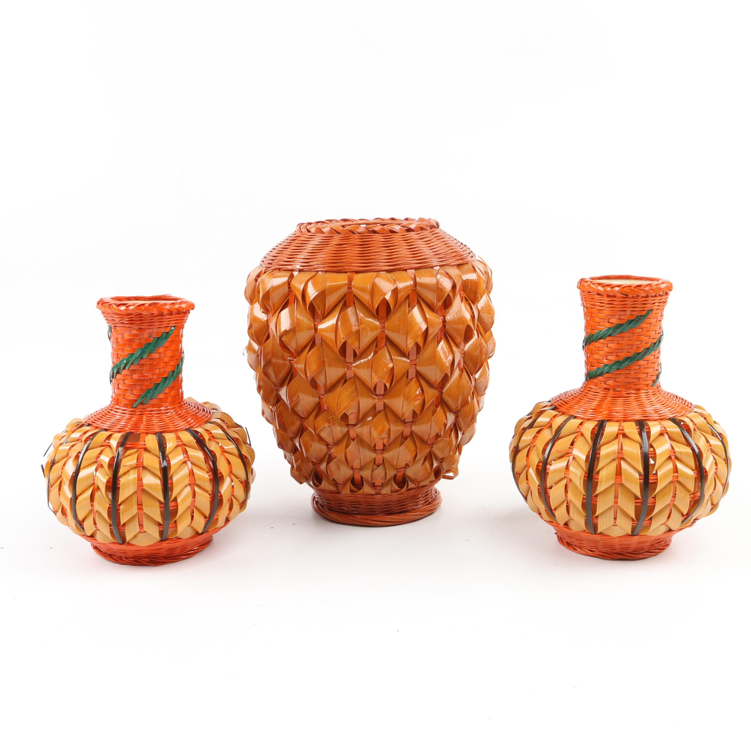 Chinese Woven Vases