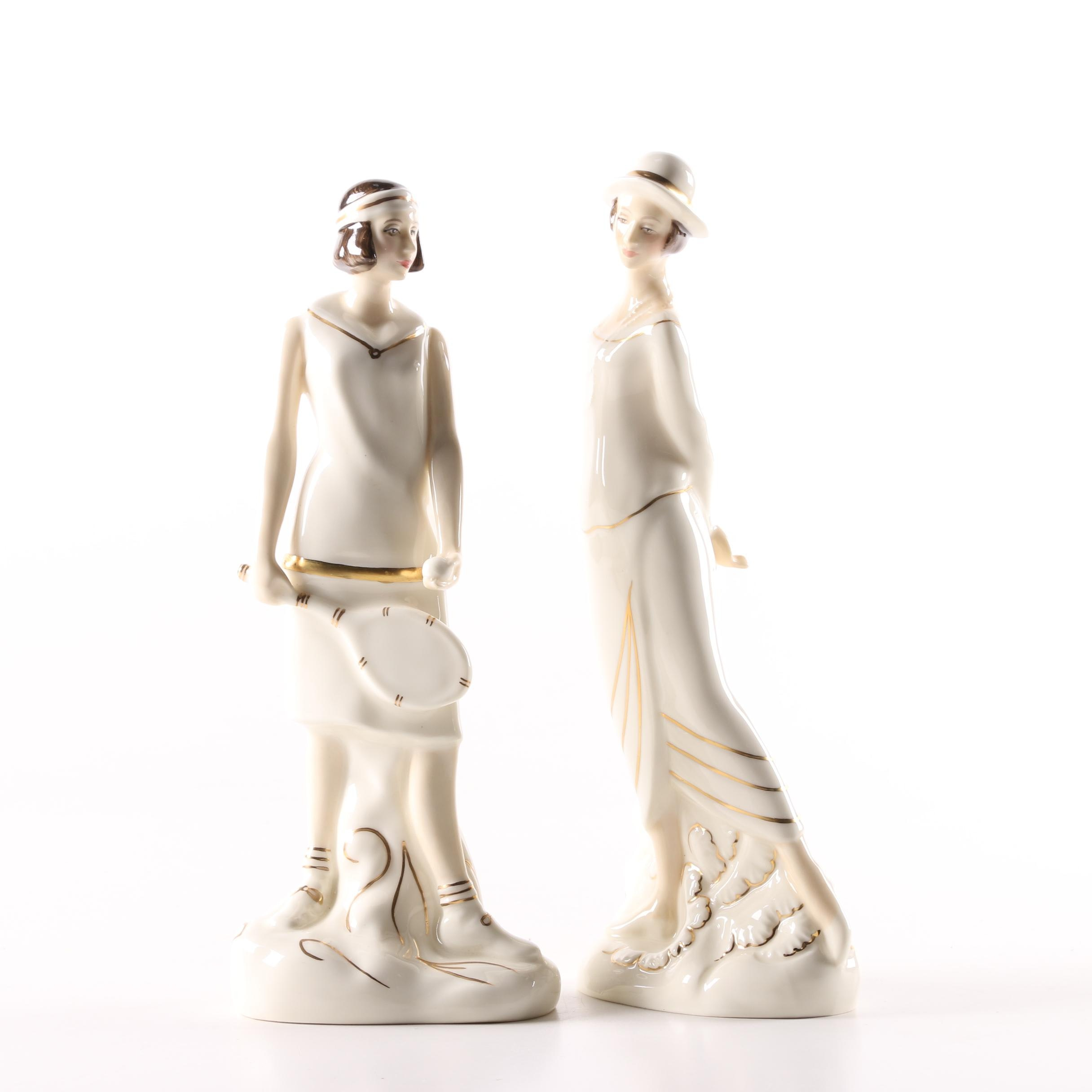 "Royal Doulton ""Eliza"" and ""Emily"" Figurines"