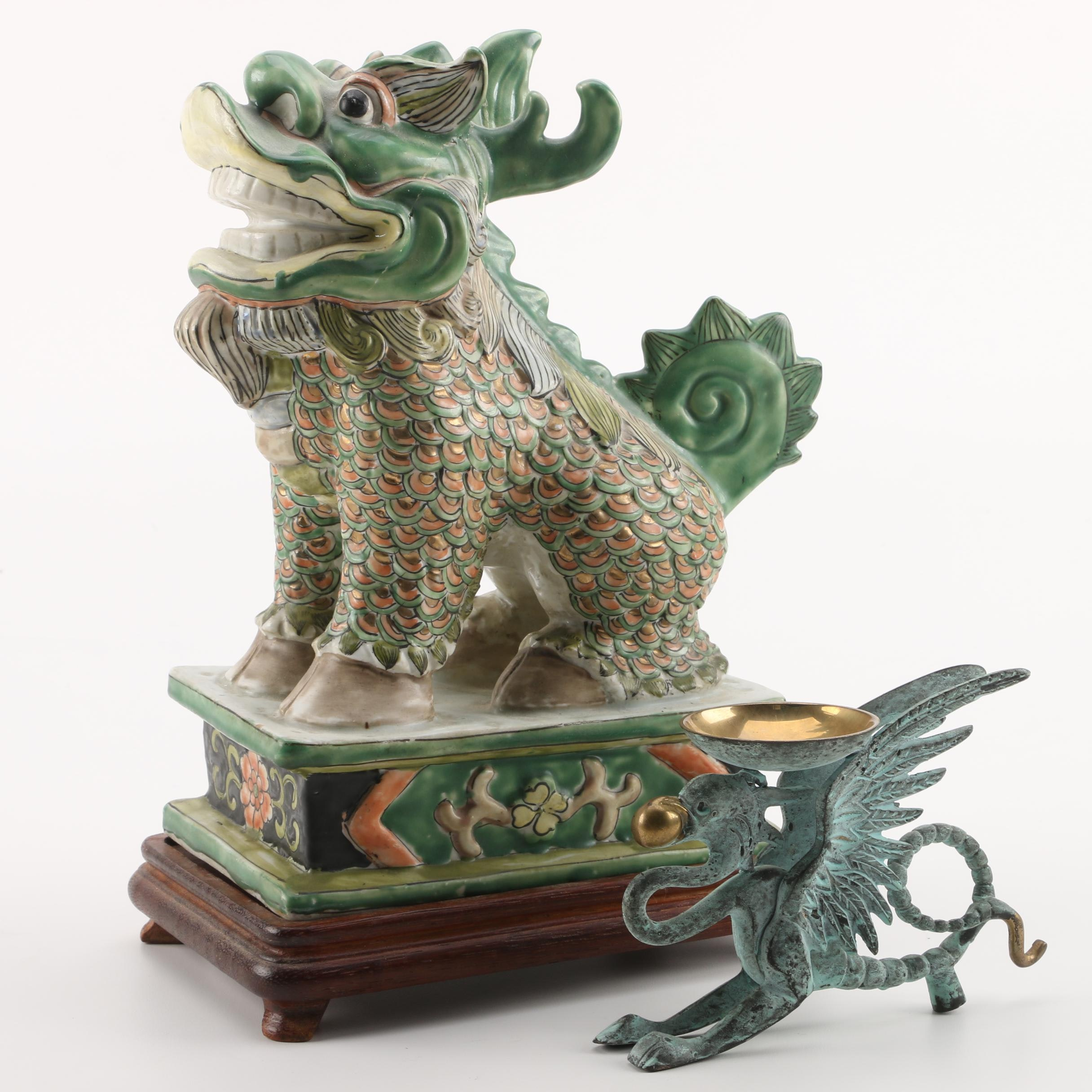 Guardian Lion and Chimera Figurines