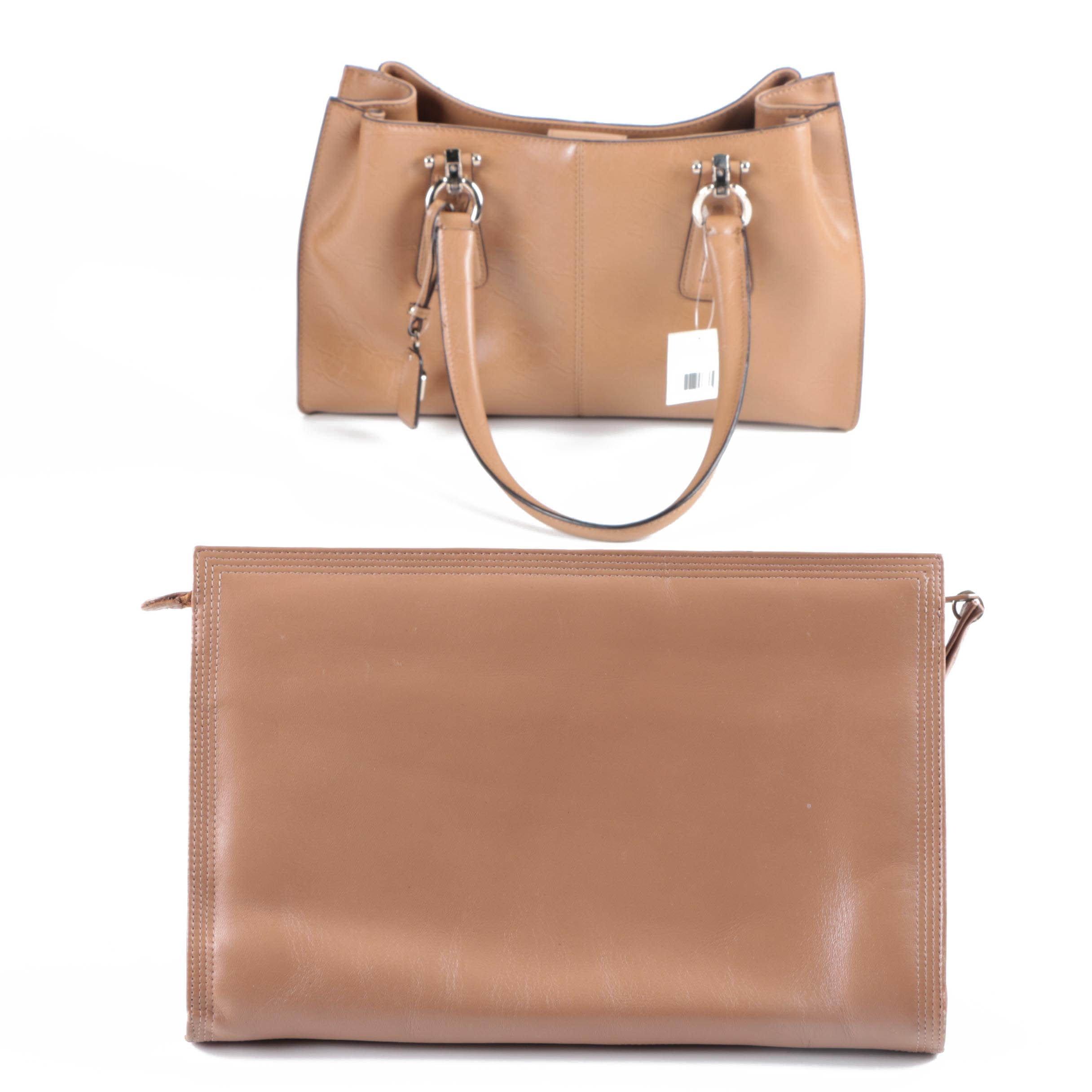 Leather Handbags Including Liz Claiborne