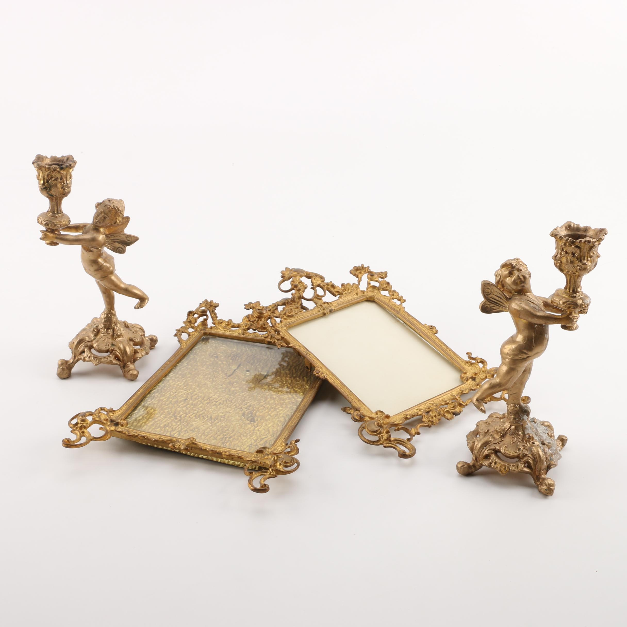 Rococo Style Picture Frames and Candleholders