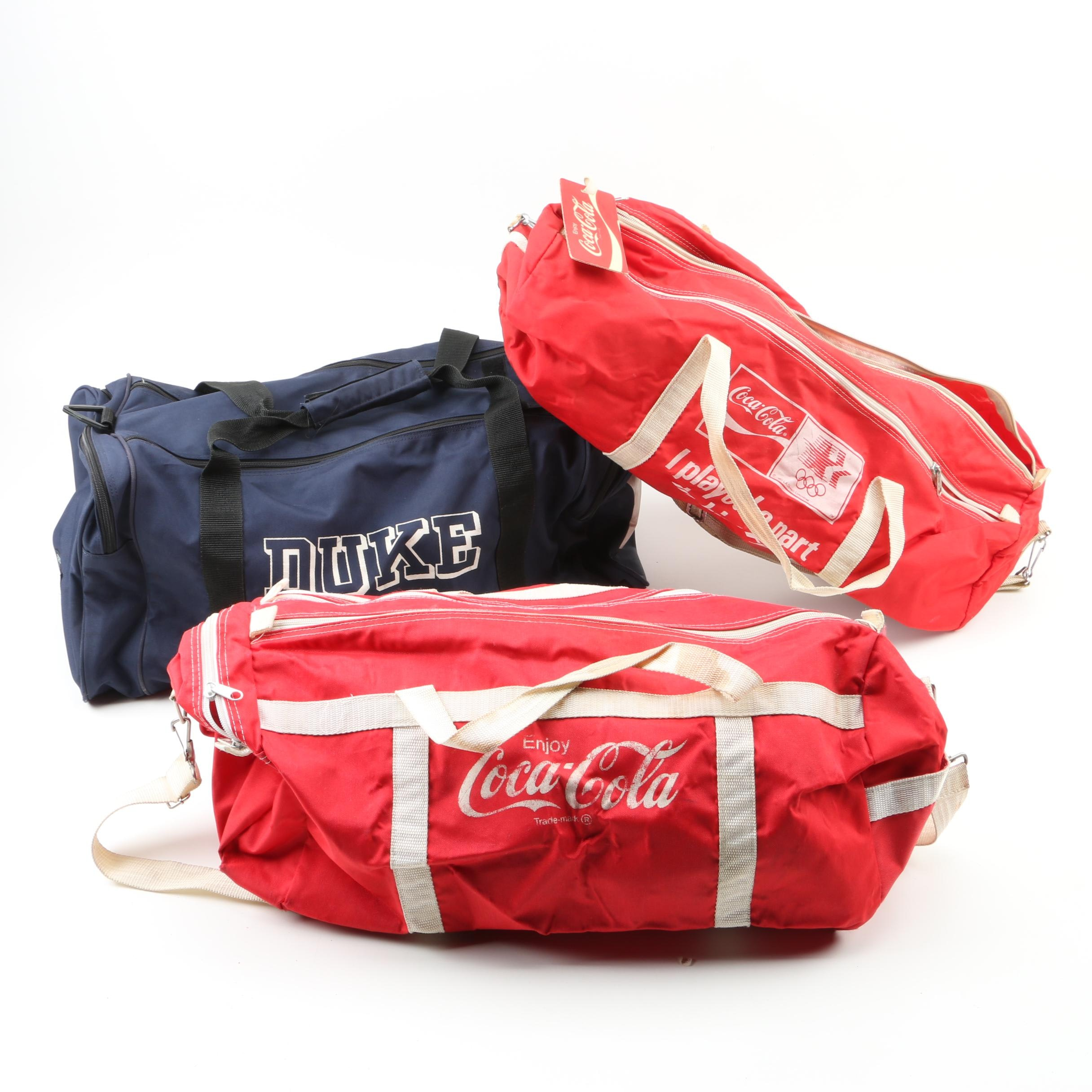 Vintage Coca-Cola and Duke Gym Bags