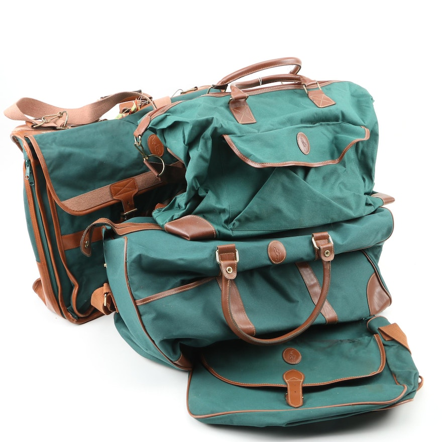 6630607b6157 Ralph Lauren Canvas and Faux Leather Luggage   EBTH