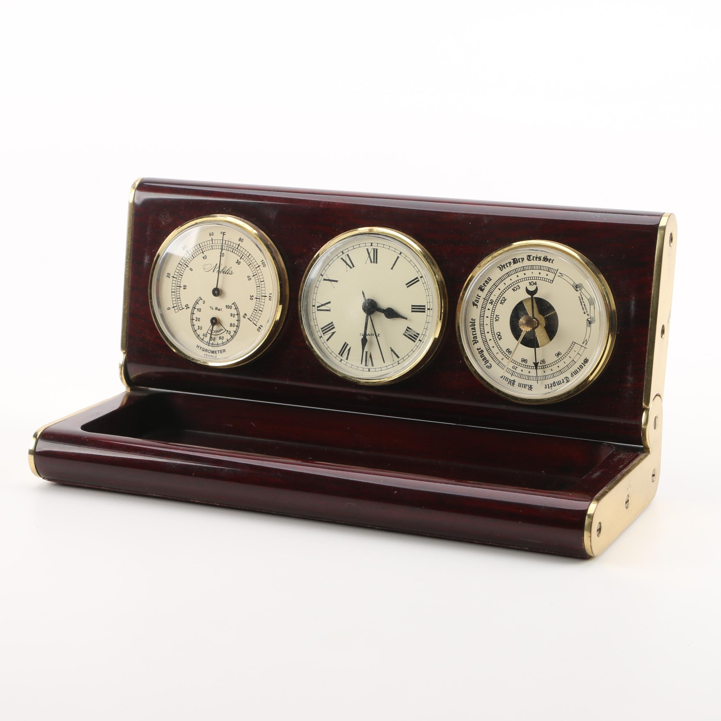 Nobilis French Desktop Clock and Weather Station