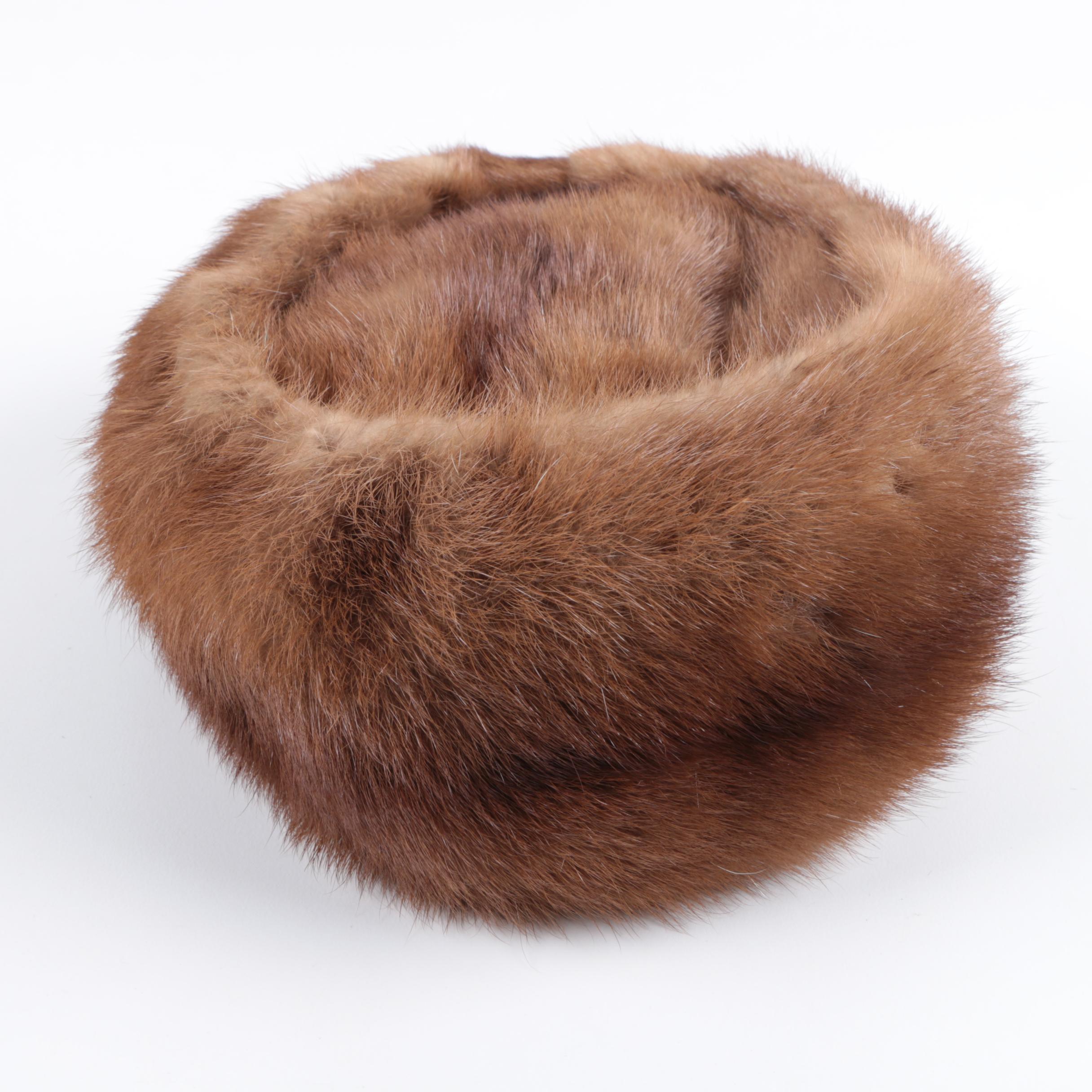 Brown Mink Fur Hat