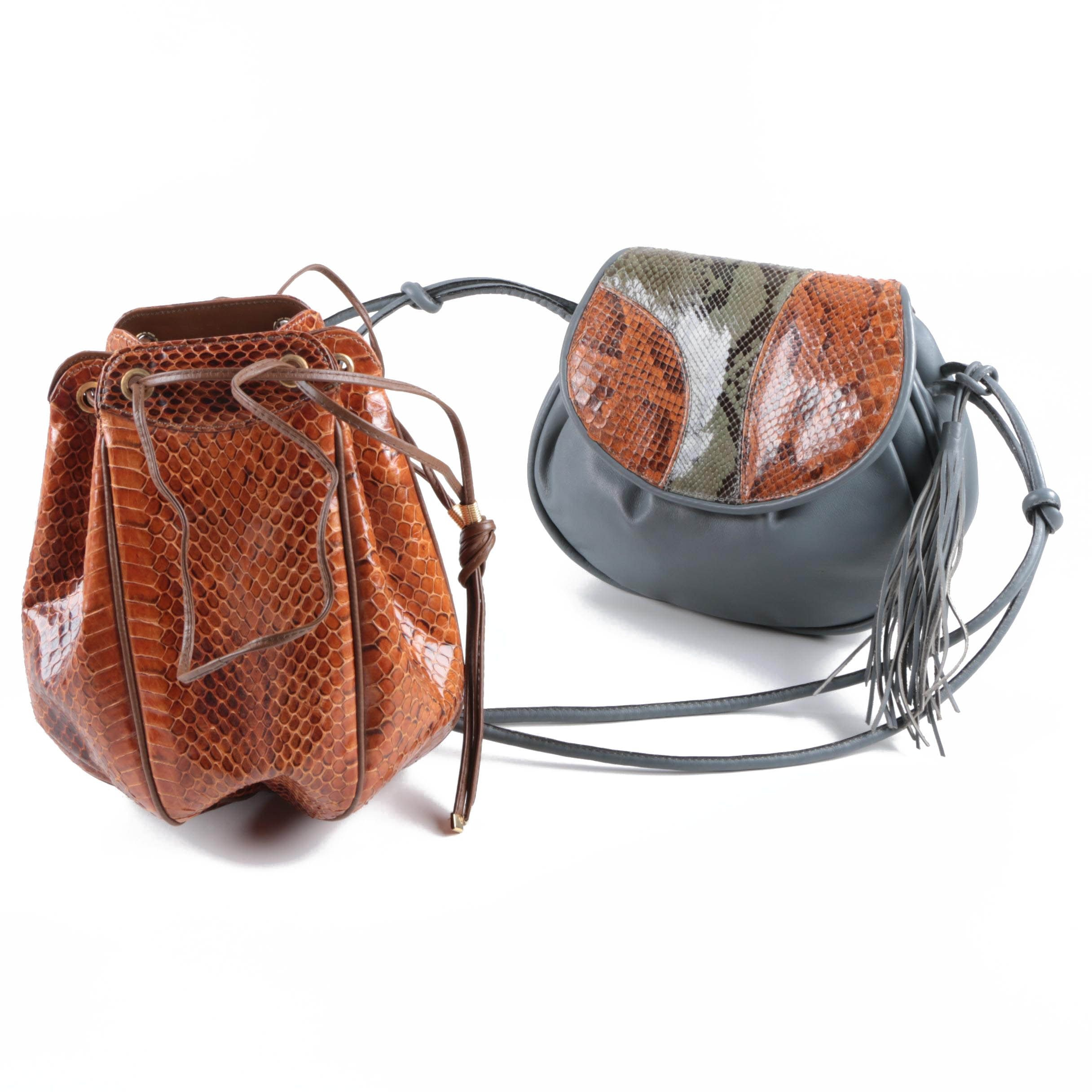 Noblesse Snakeskin and Leather Handbags
