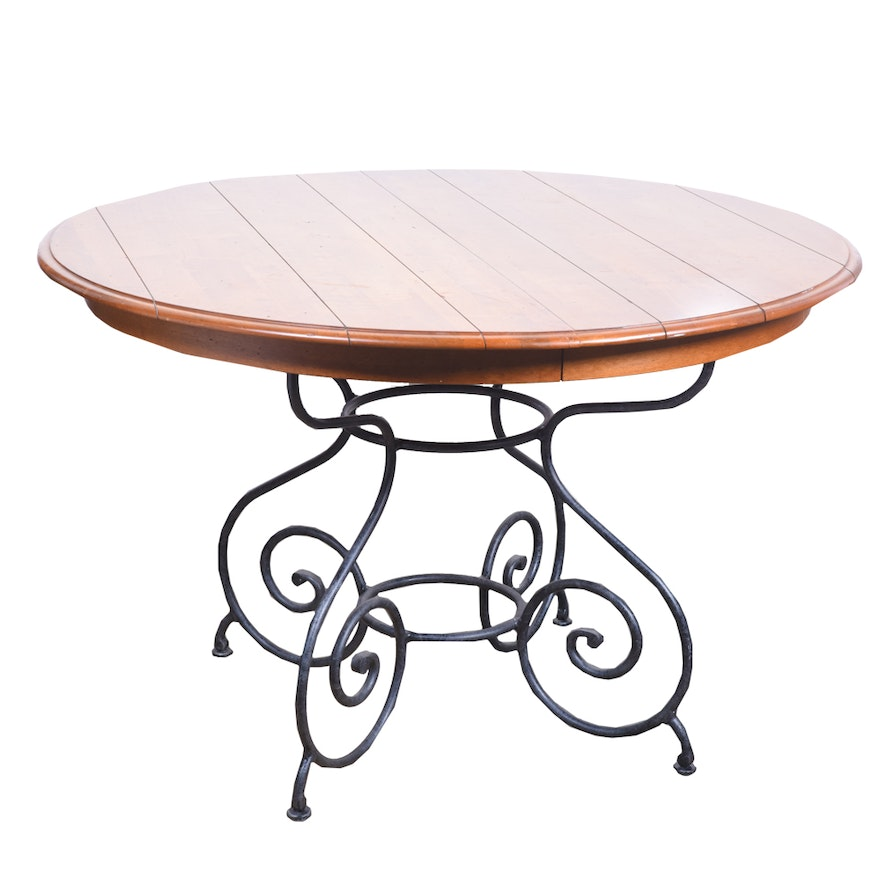 """Ethan Allen Oval Glass Top Coffee Table: Ethan Allen """"Legacy"""" Collection Dining Table"""