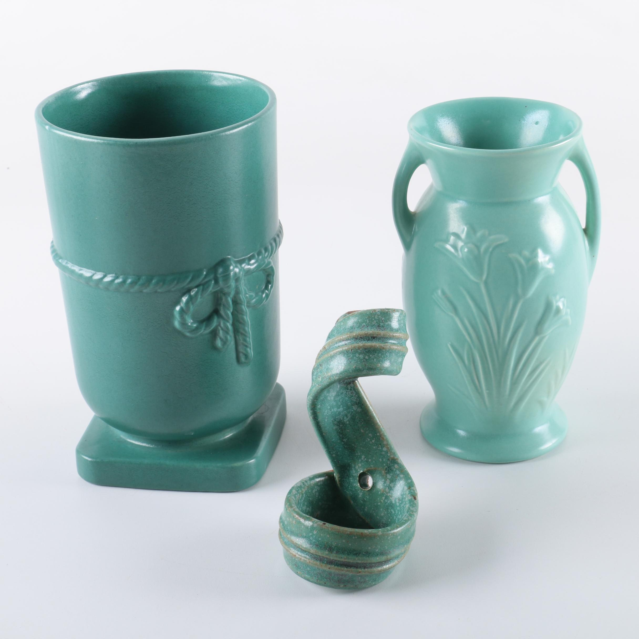 Red Wing Turquoise Blue Vases