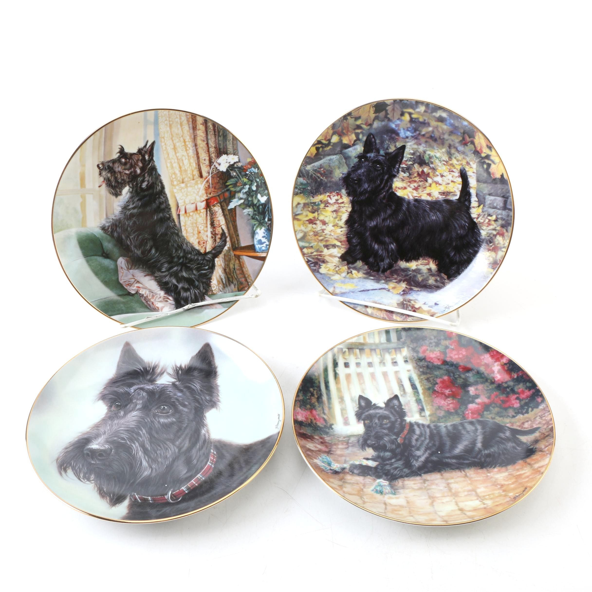 Danbury Mint Scottish Terrier-Themed Collector Plates