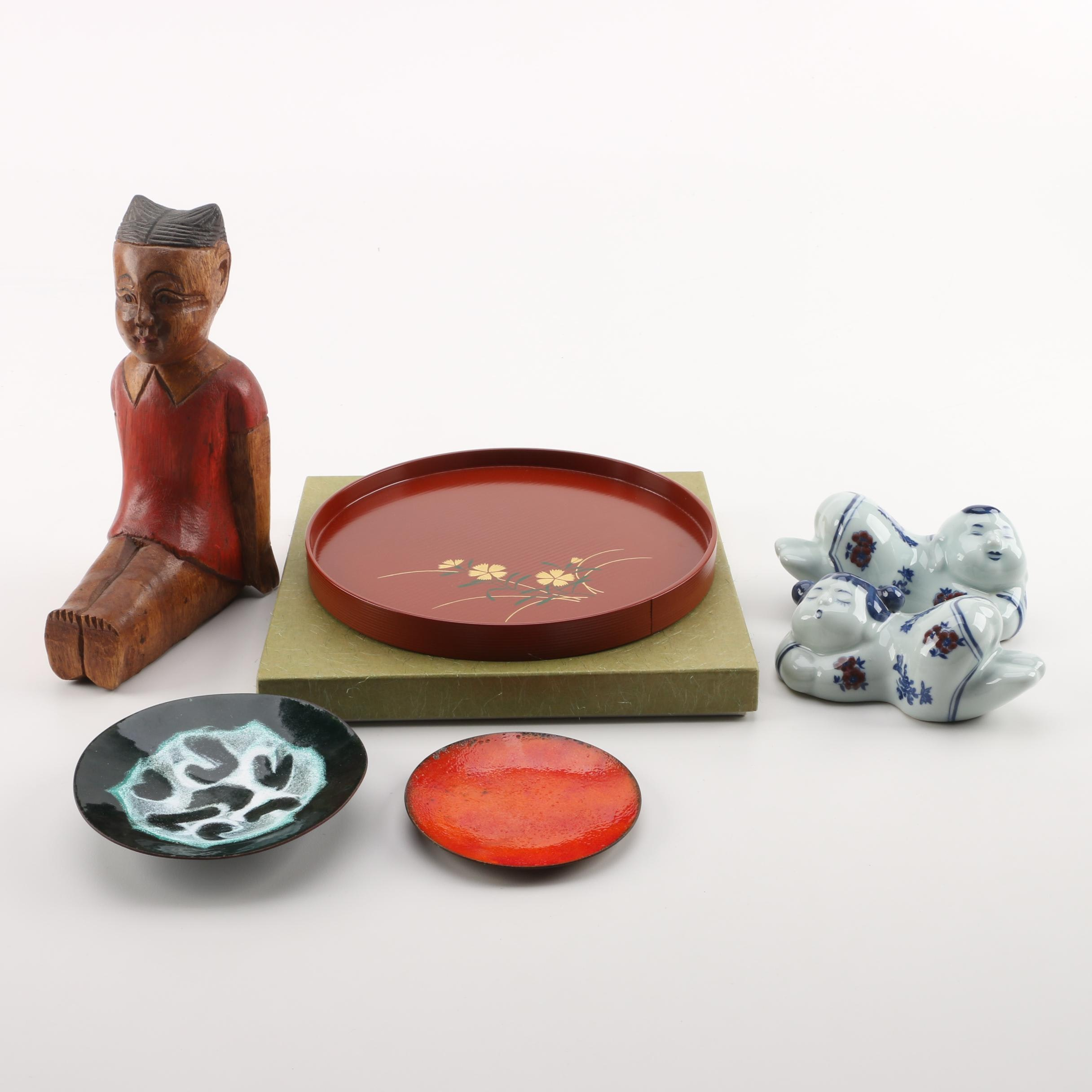East Asian Figurines and Plates