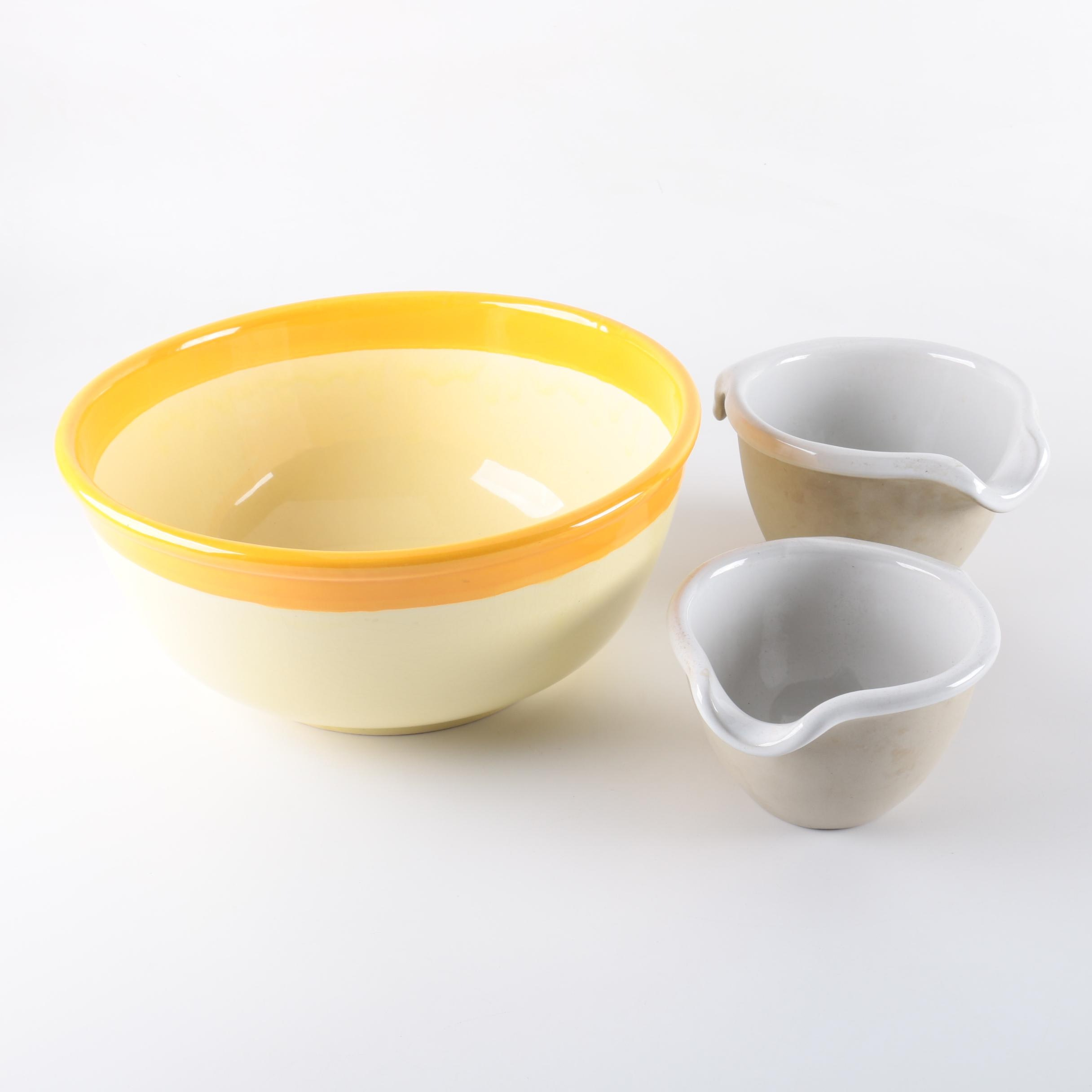 Ceramic Mixing Bowls Including Bennington Potters