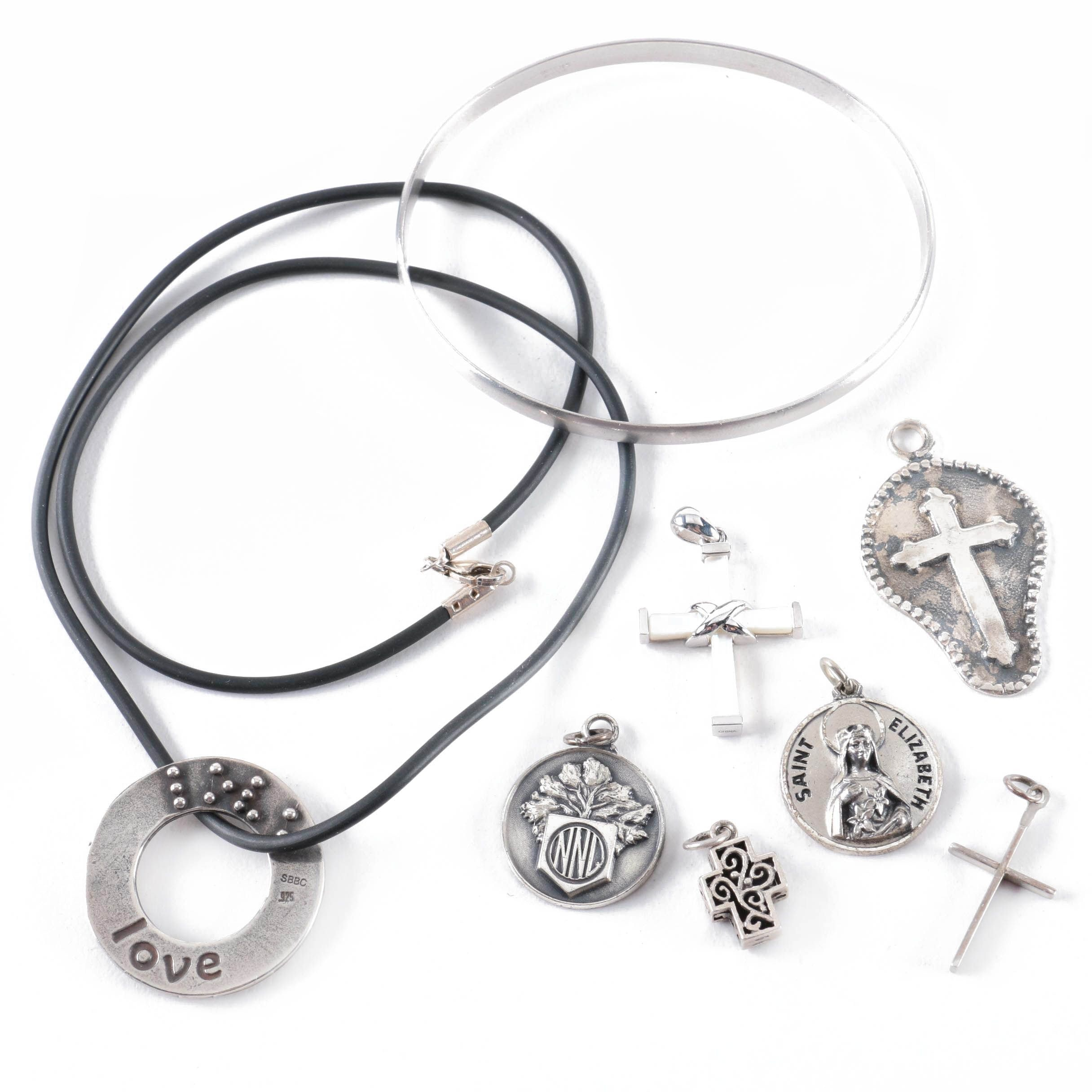 Sterling Silver Necklaces, Bracelets and Religious Pendants