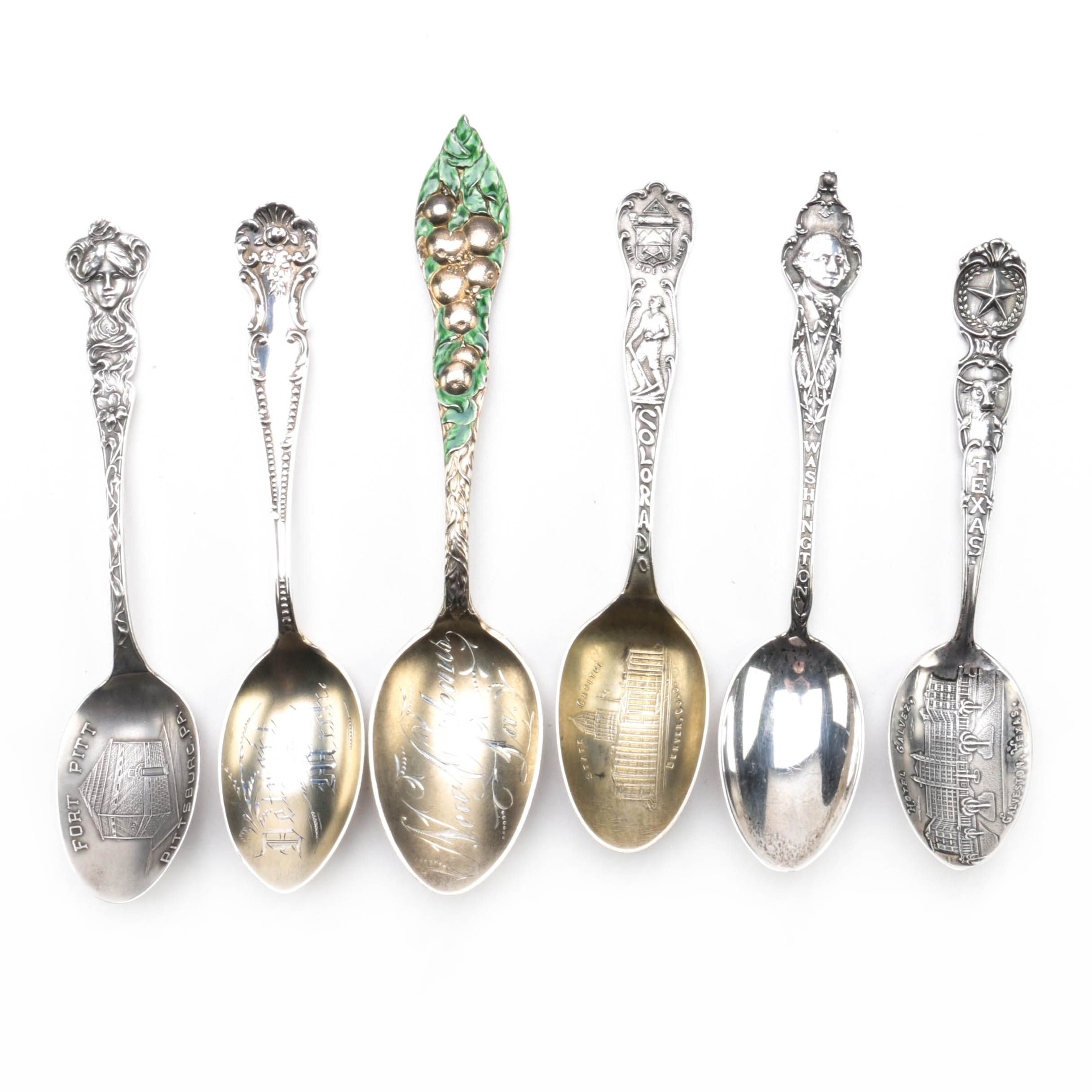 Antique Simmons & Paye Sterling Spoon and Other Souvenir Spoons