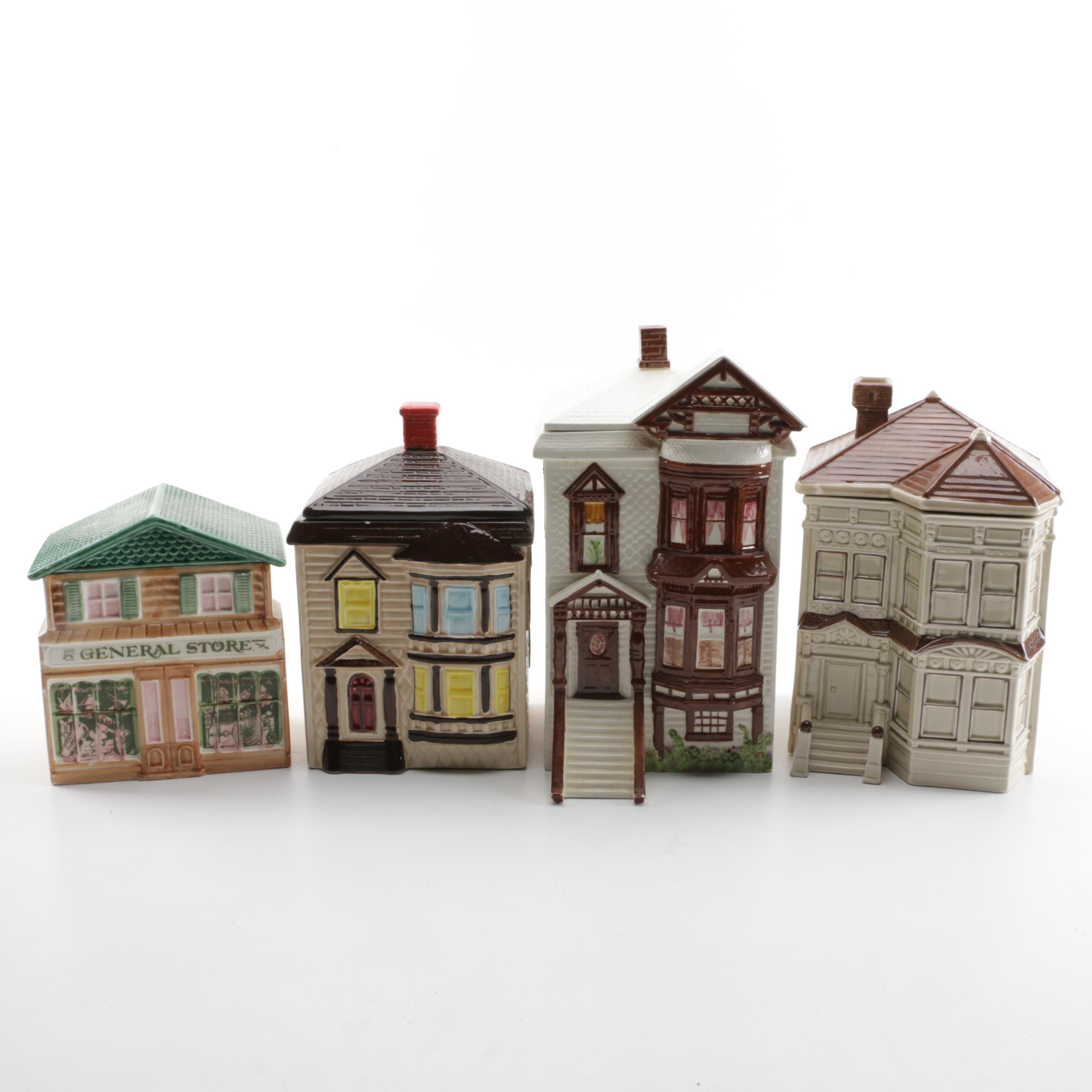 Group of Ceramic Houses