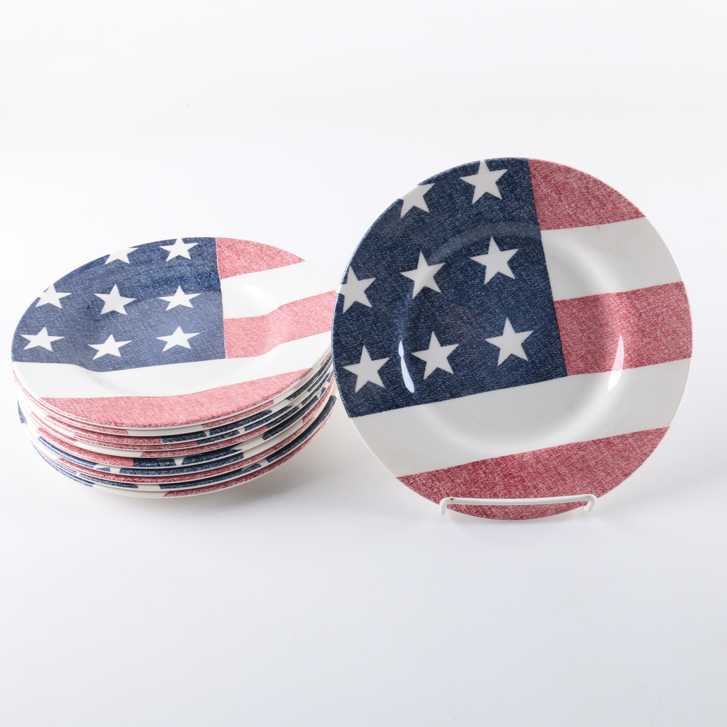 Royal Stafford  American Flag  Plates ... & Royal Stafford