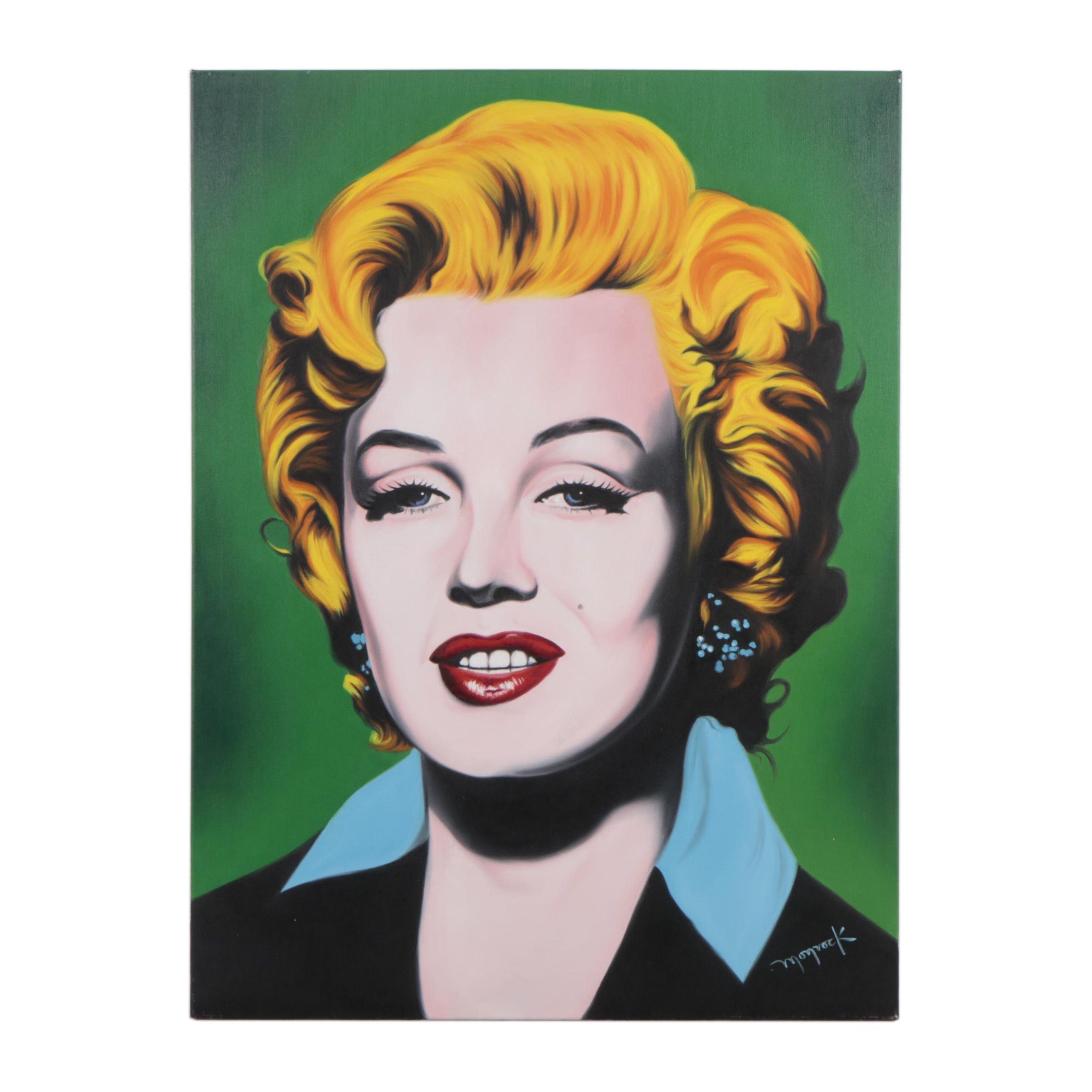 """Hector Monroy Oil Painting """"Marilyn"""""""