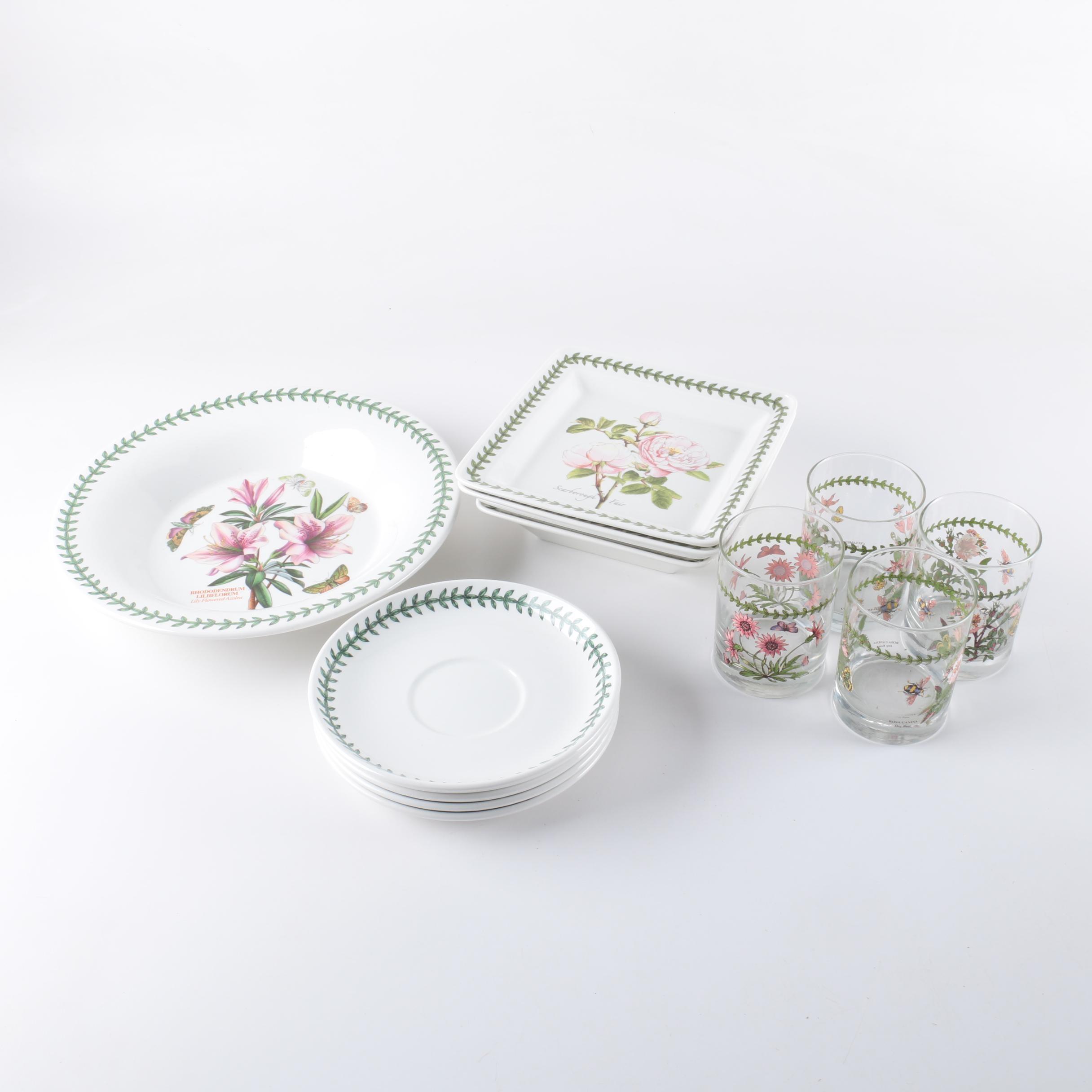 """Portmeirion """"Botanic Garden"""" Glass and Stoneware Tableware"""