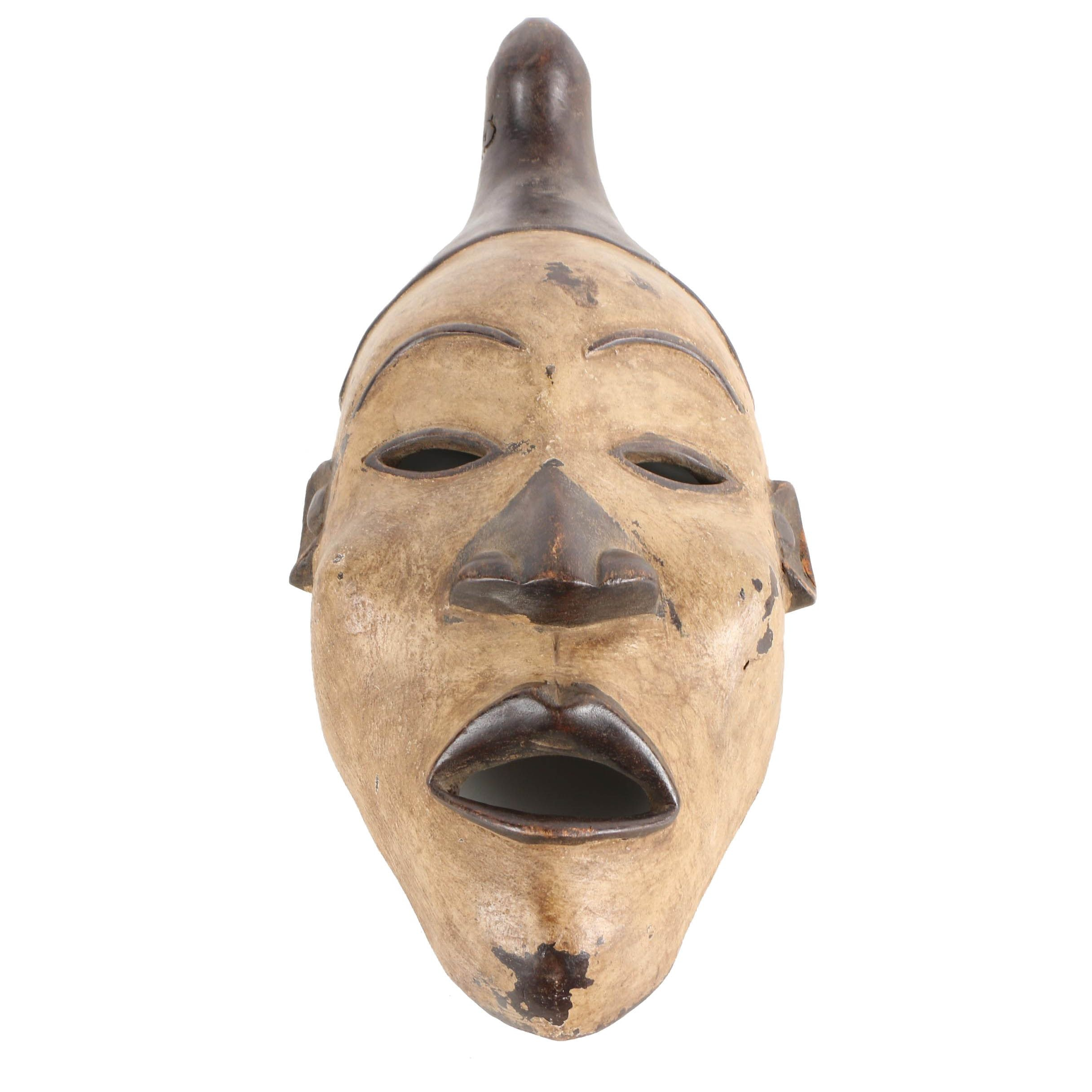 Yombe Style Carved Wood Mask