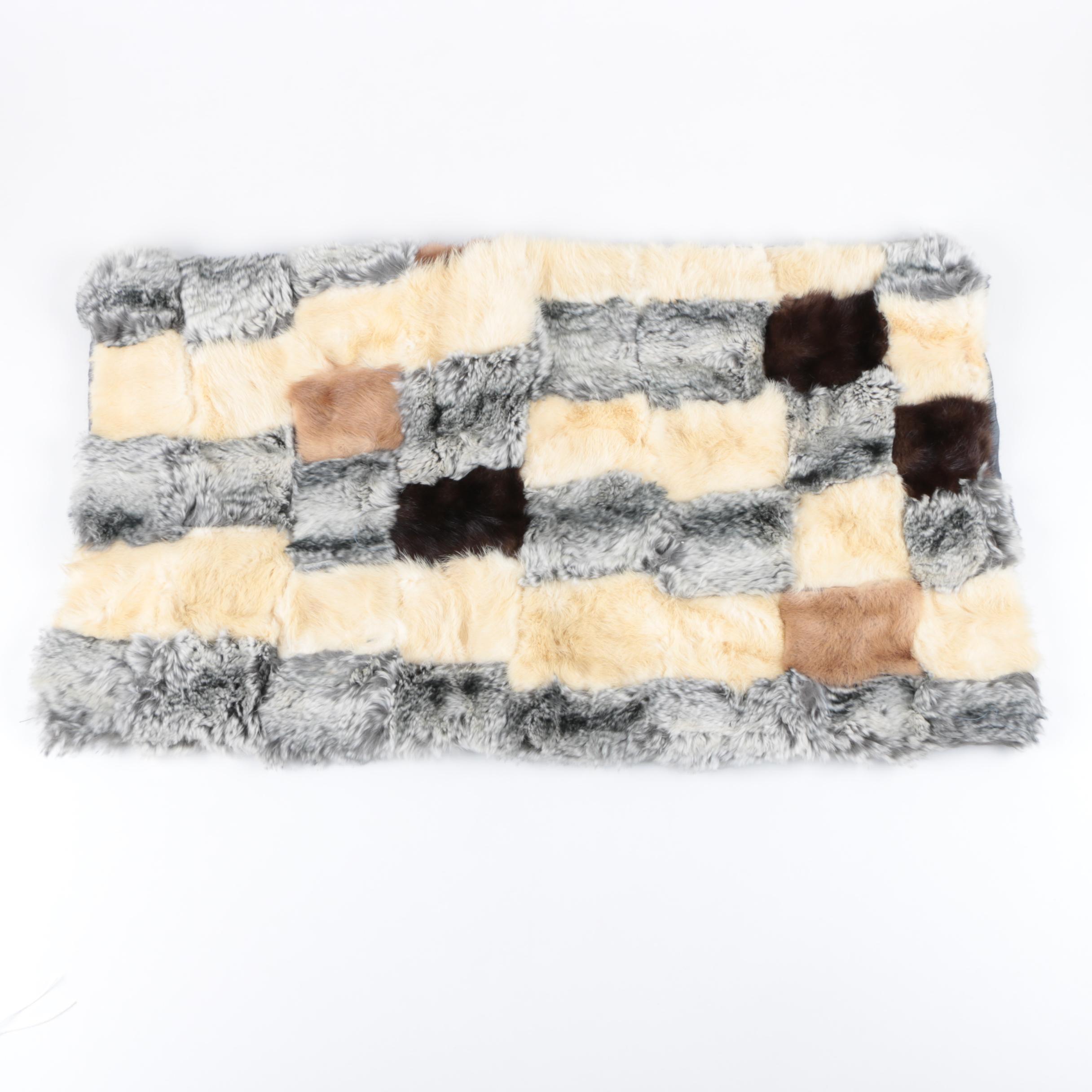 Mink and Rabbit Fur Patchwork Pelt