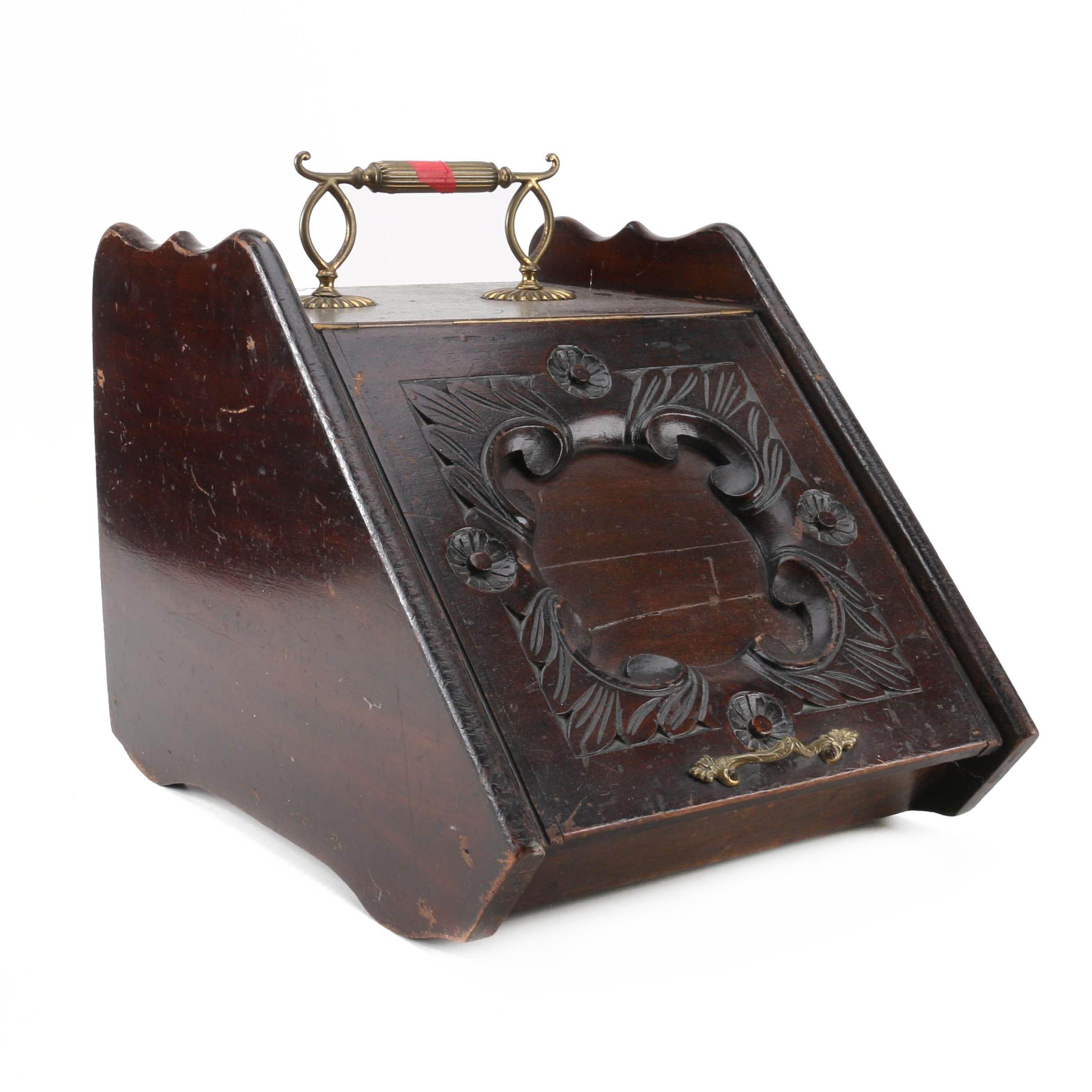 Vintage Wood Kindling Box