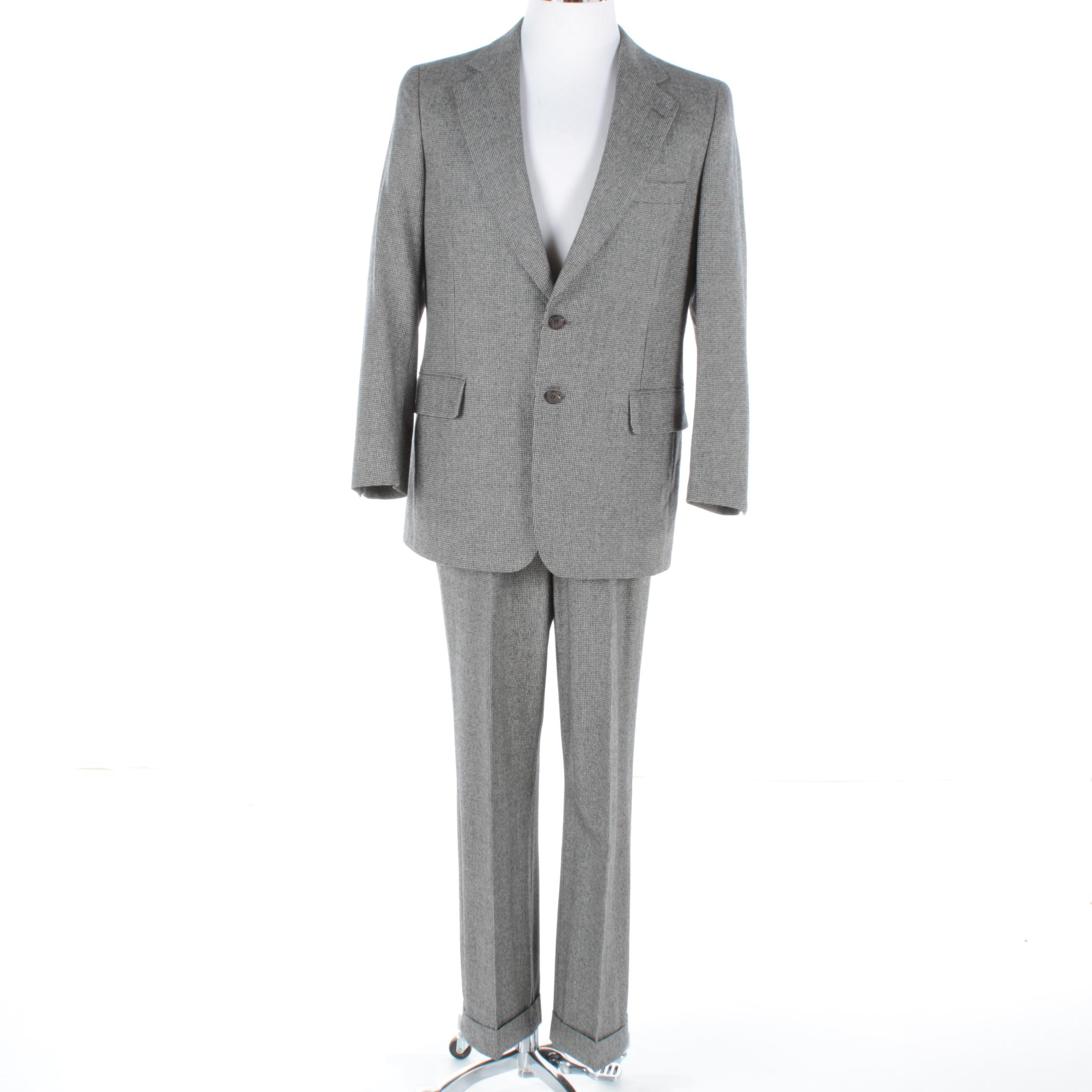 Men's Paul Stuart Wool Houndstooth Suit