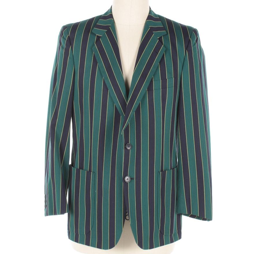 Men's Vintage Harrods Striped Cotton Blazer