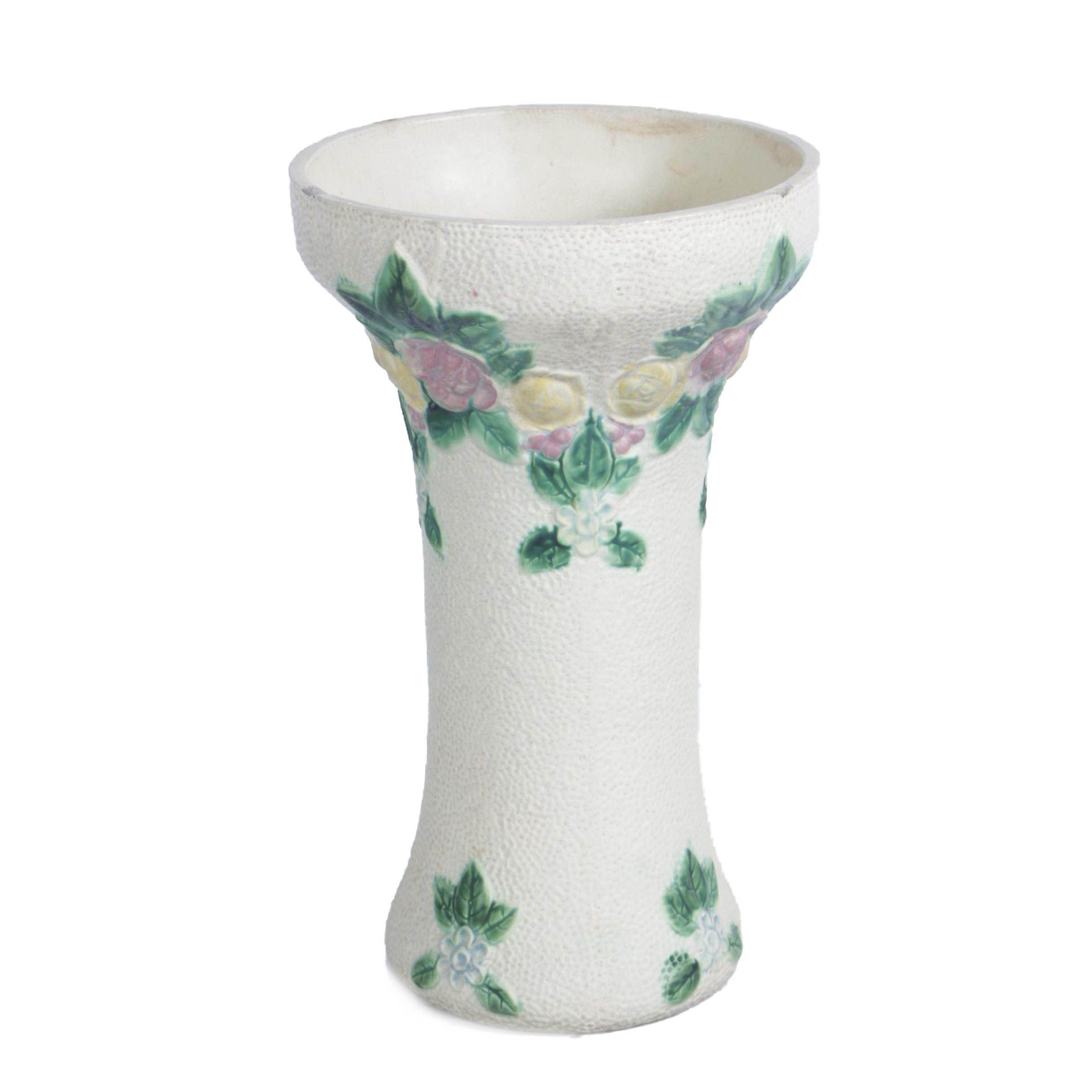 Vintage Ceramic Floral Umbrella Stand