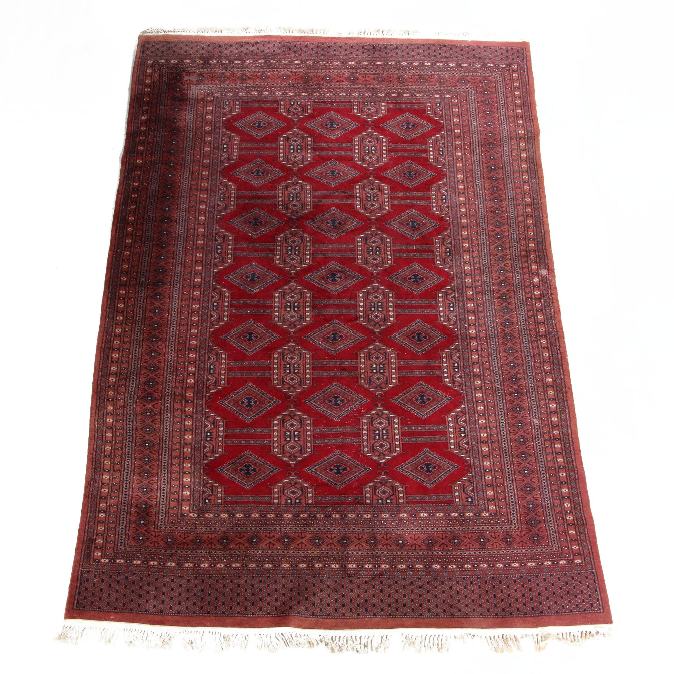 Hand-Knotted Afghan Wool Area Rug