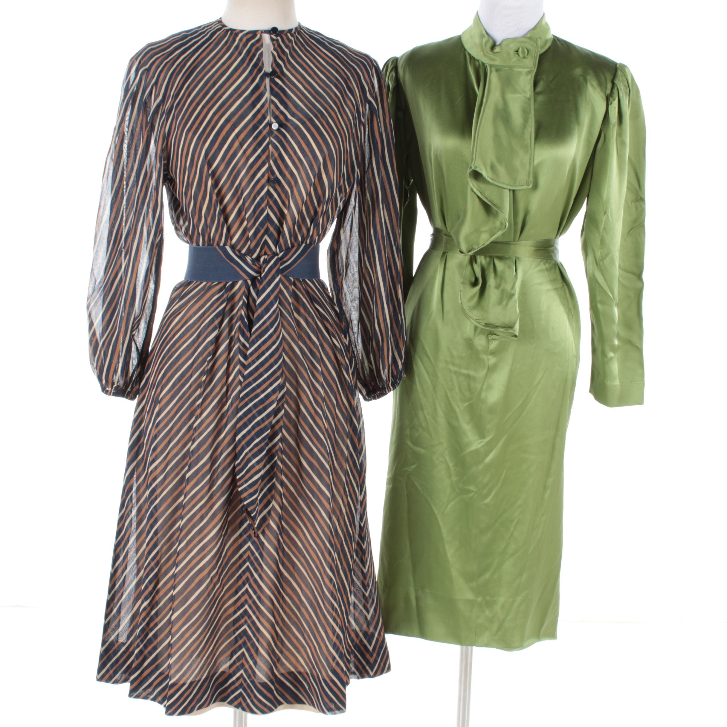Women's Vintage Dresses Including Christian Rupert