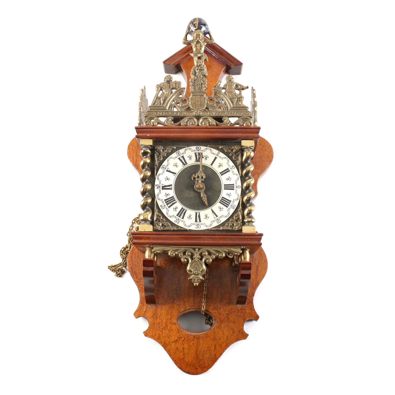 "German Franz Hermle ""Atlas"" Wall Clock"