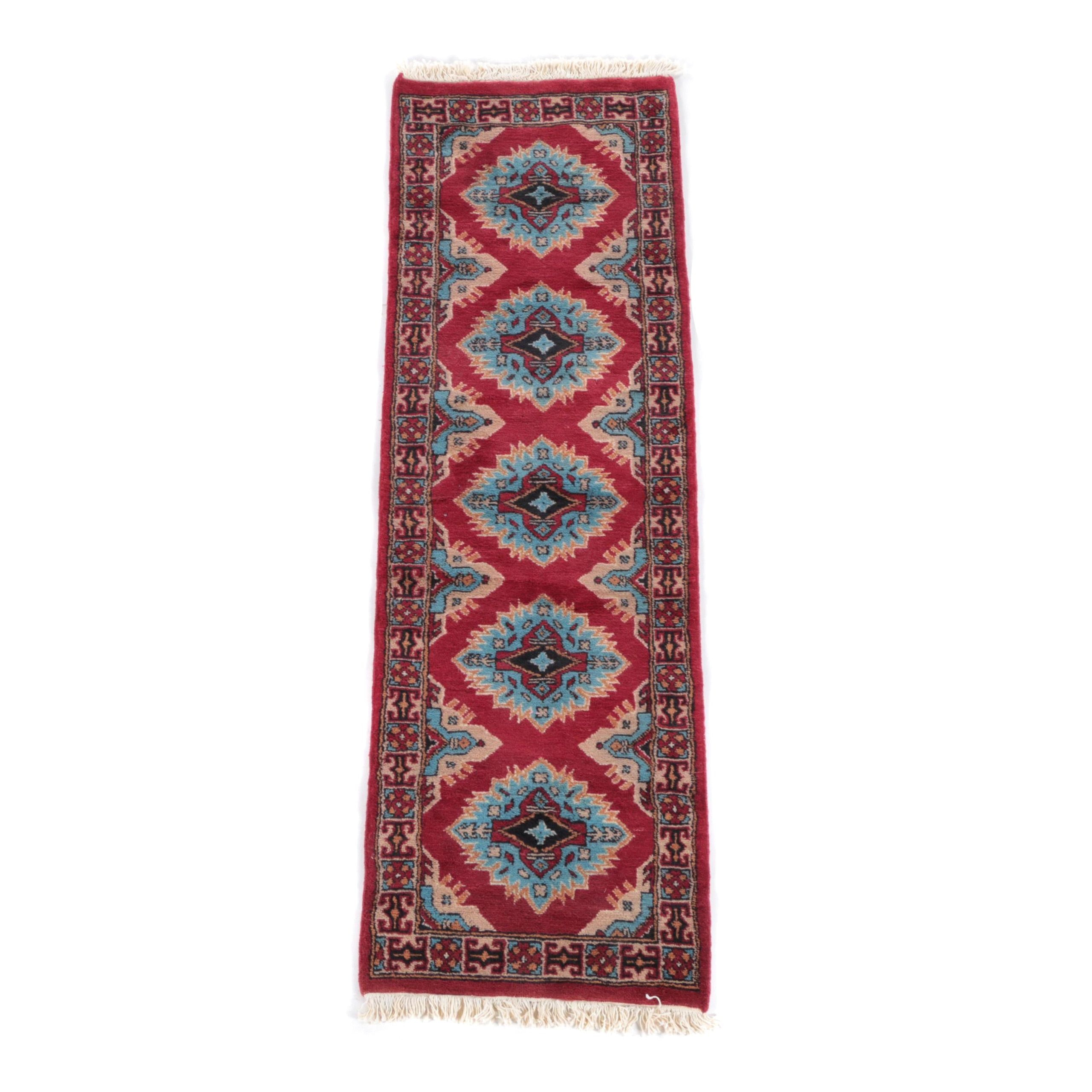 Hand-Knotted Pak-Kazak Carpet Runner