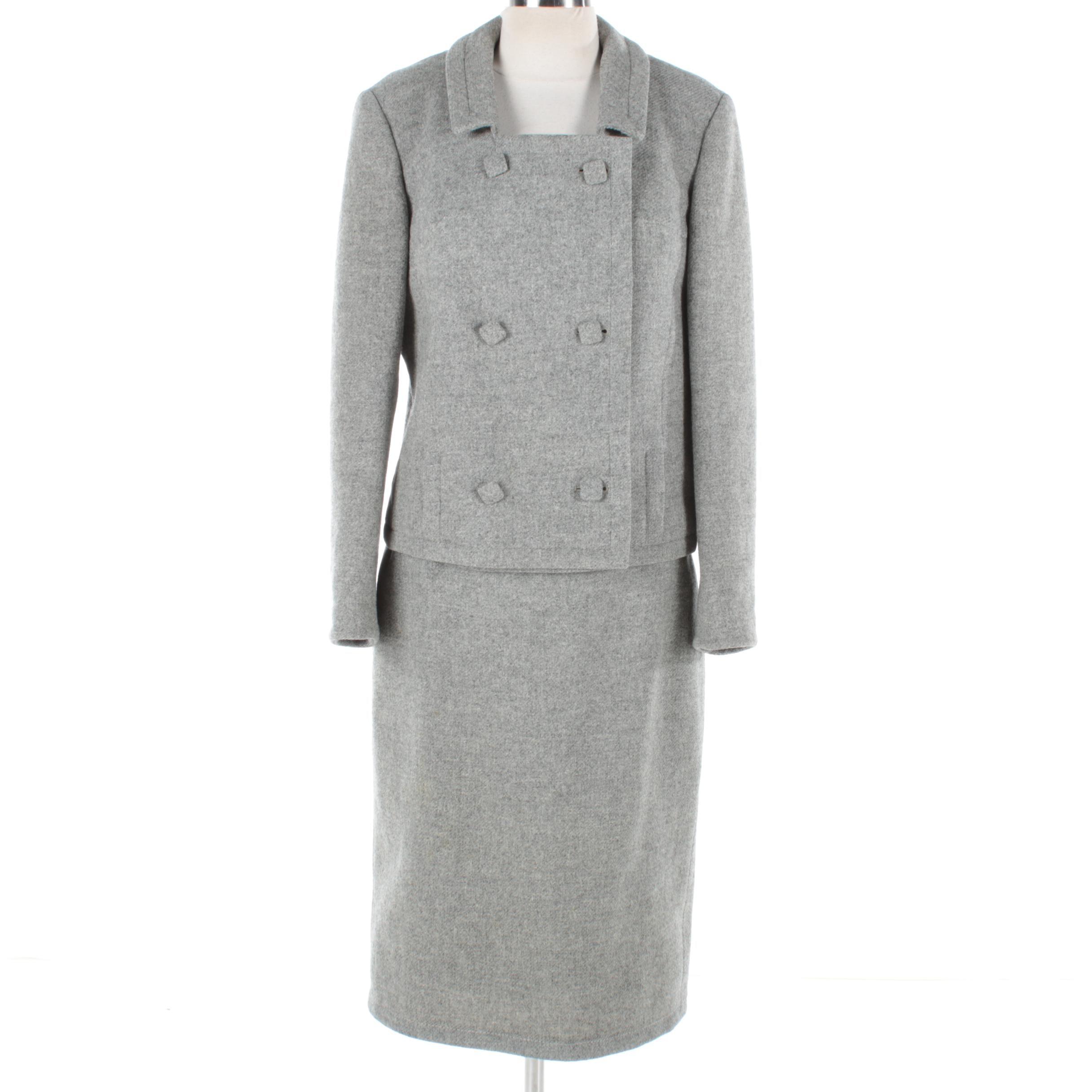 Circa 1960s Vintage Skirt Suit by Highbrow Avantgarde